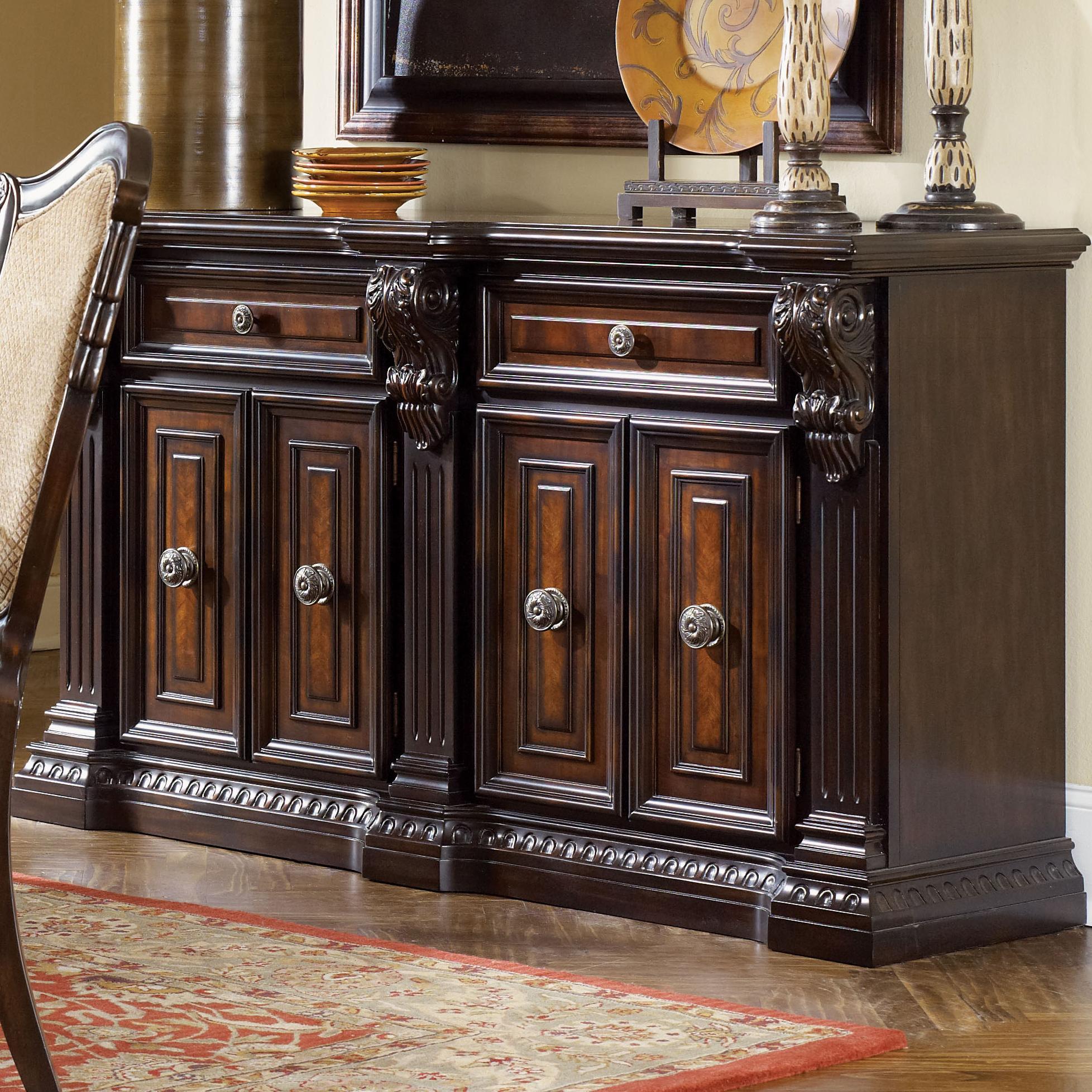 fairmont designs grand estates sideboard table w 2 drawers dream home furniture sideboards. Black Bedroom Furniture Sets. Home Design Ideas