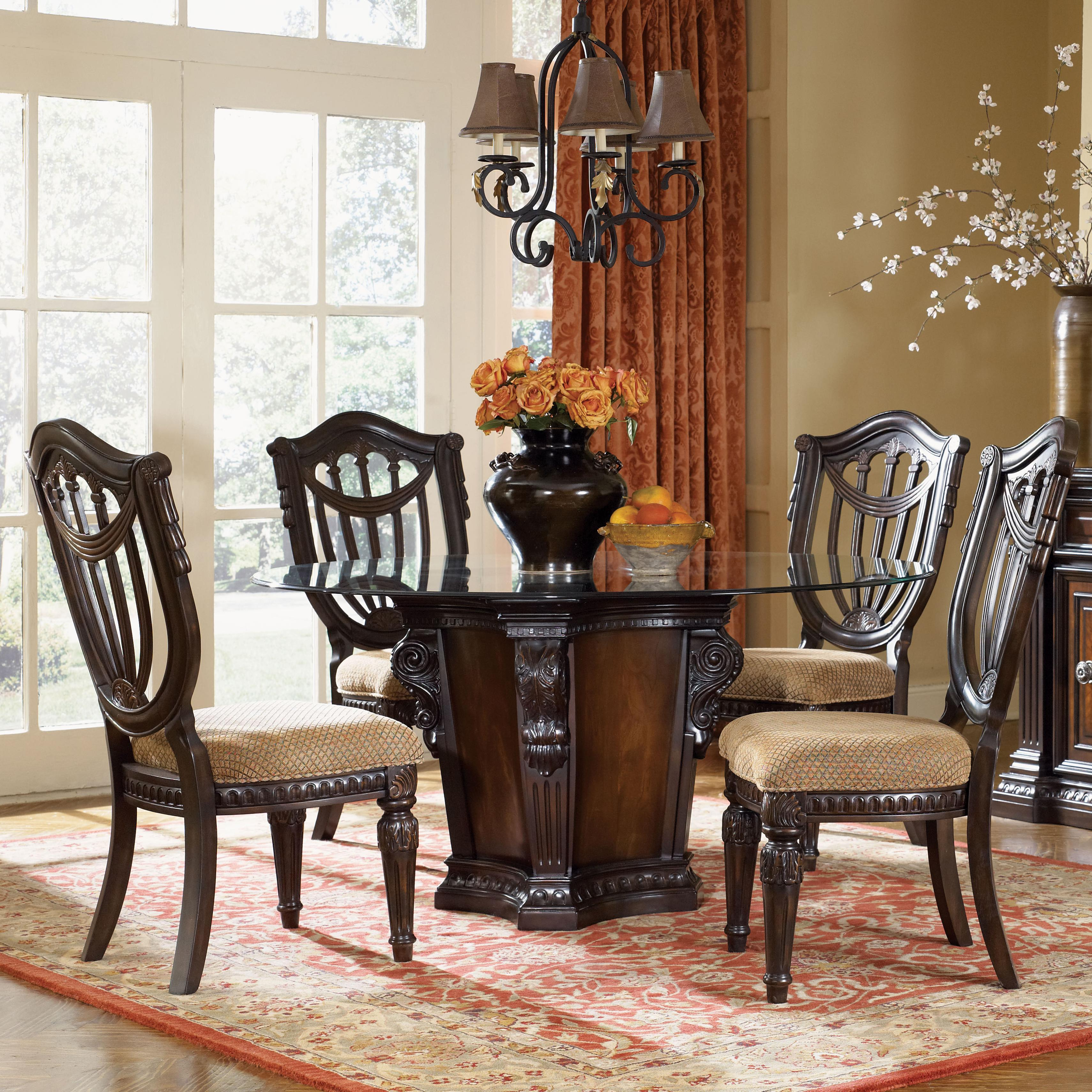 Fairmont Designs Grand Estates 5 Piece Dining Table And Chairs Set Royal Furniture Dining 5