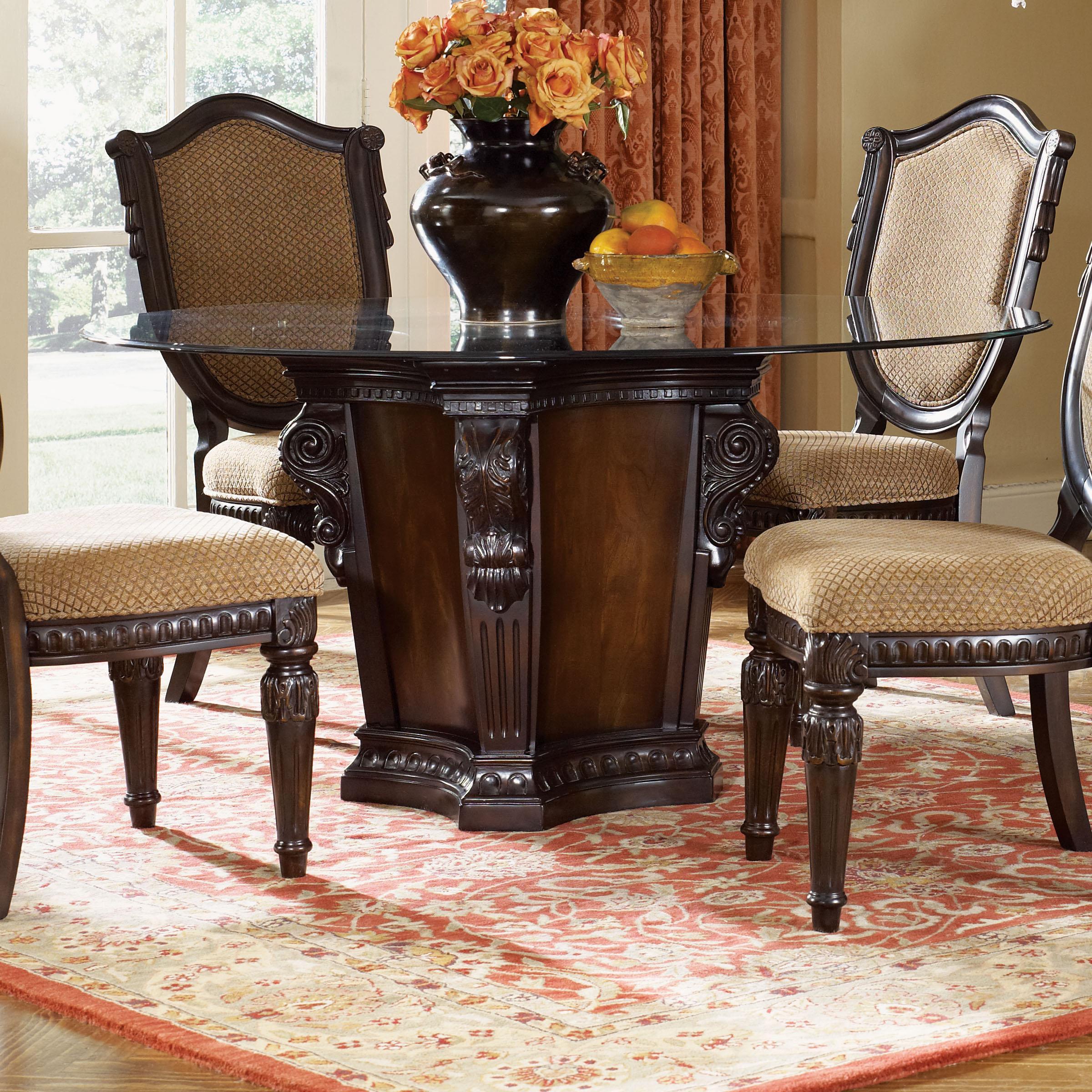 Fairmont designs grand estates round pedestal dinner table for Fairmont designs dining room