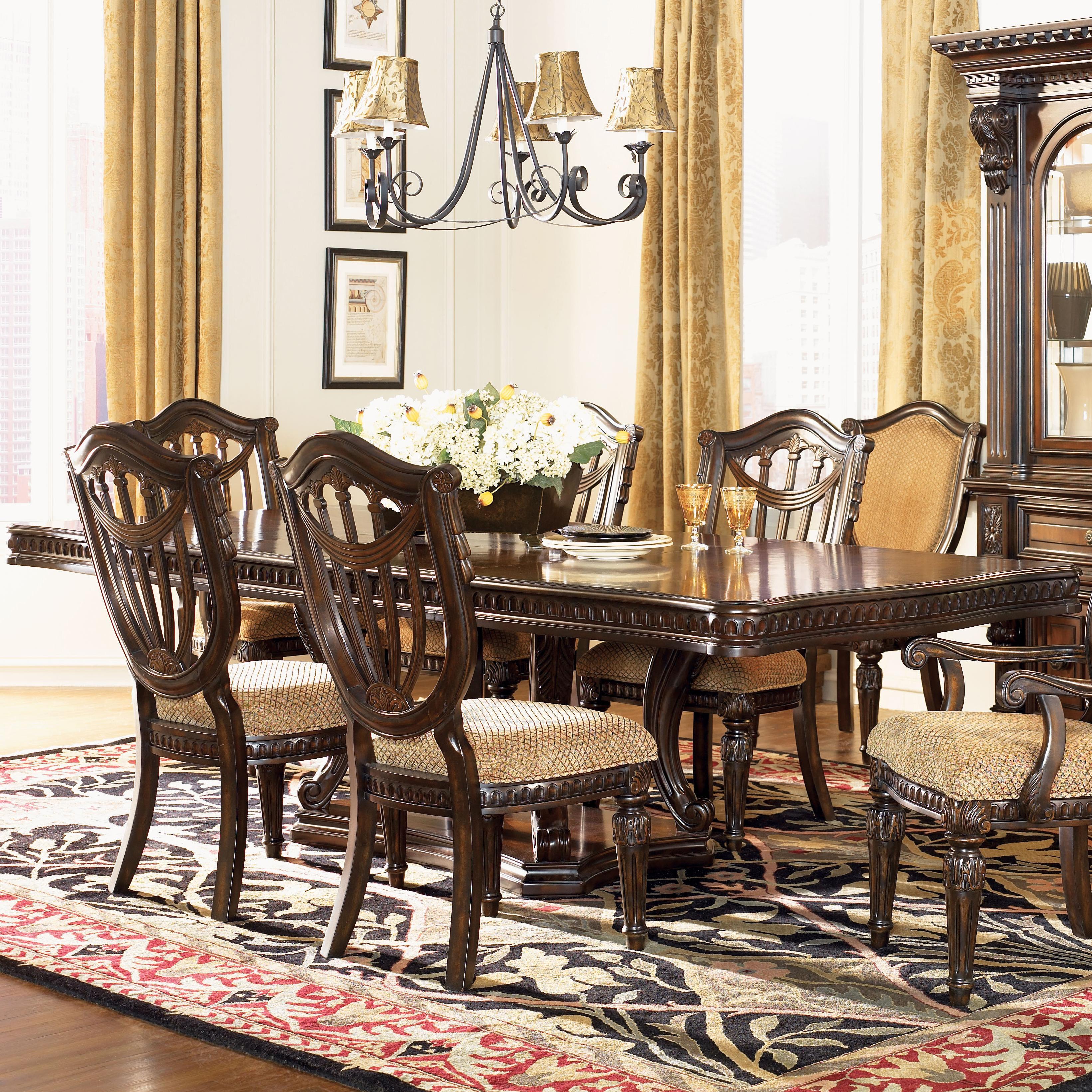 Setting Dining Room Table: Fairmont Designs Grand Estates Double Pedestal Rectangular