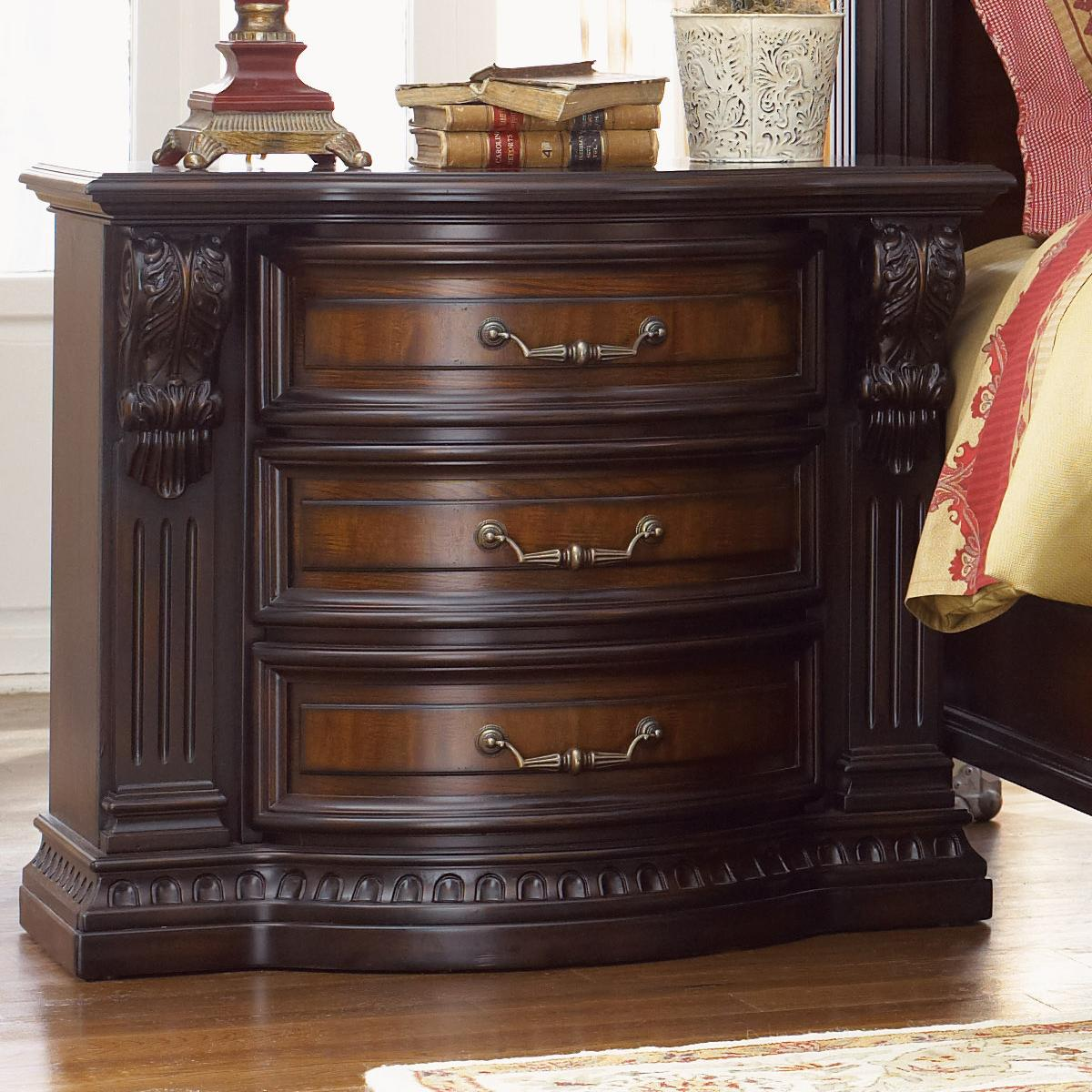 Fairmont Designs Grand Estates Night Stand W Acanthus Leaf Detailing Royal Furniture Night