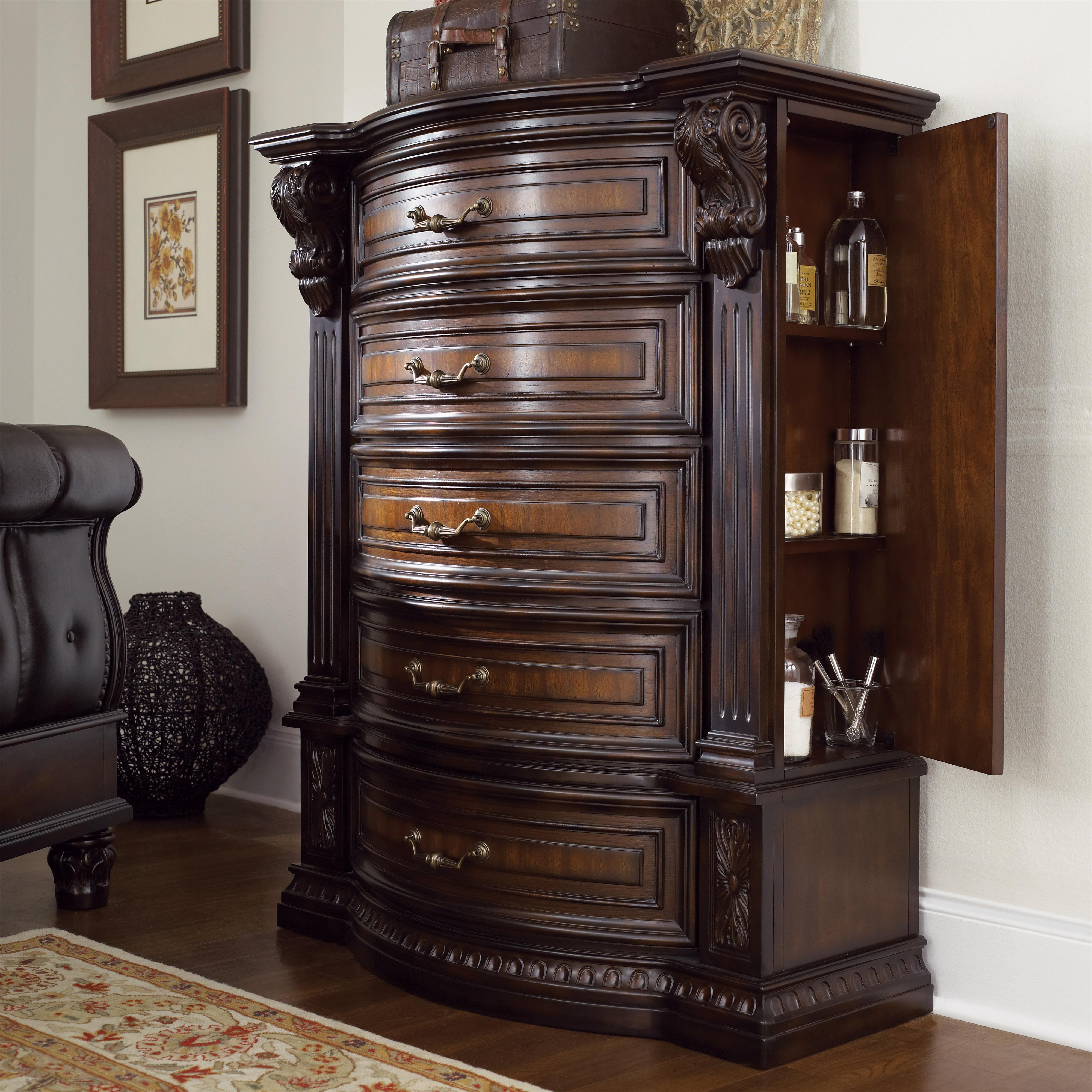 Fairmont designs grand estates chest w 5 drawers royal furniture drawer chests for Fairmont designs grand estates bedroom