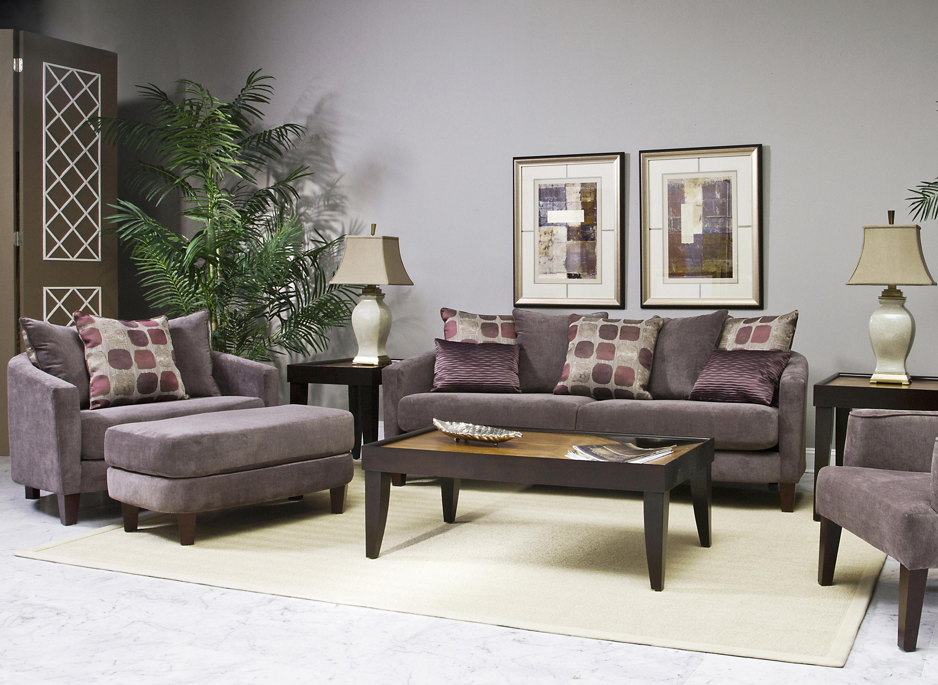 Fairmont designs zoey stationary living room group dunk for Living room furniture groups