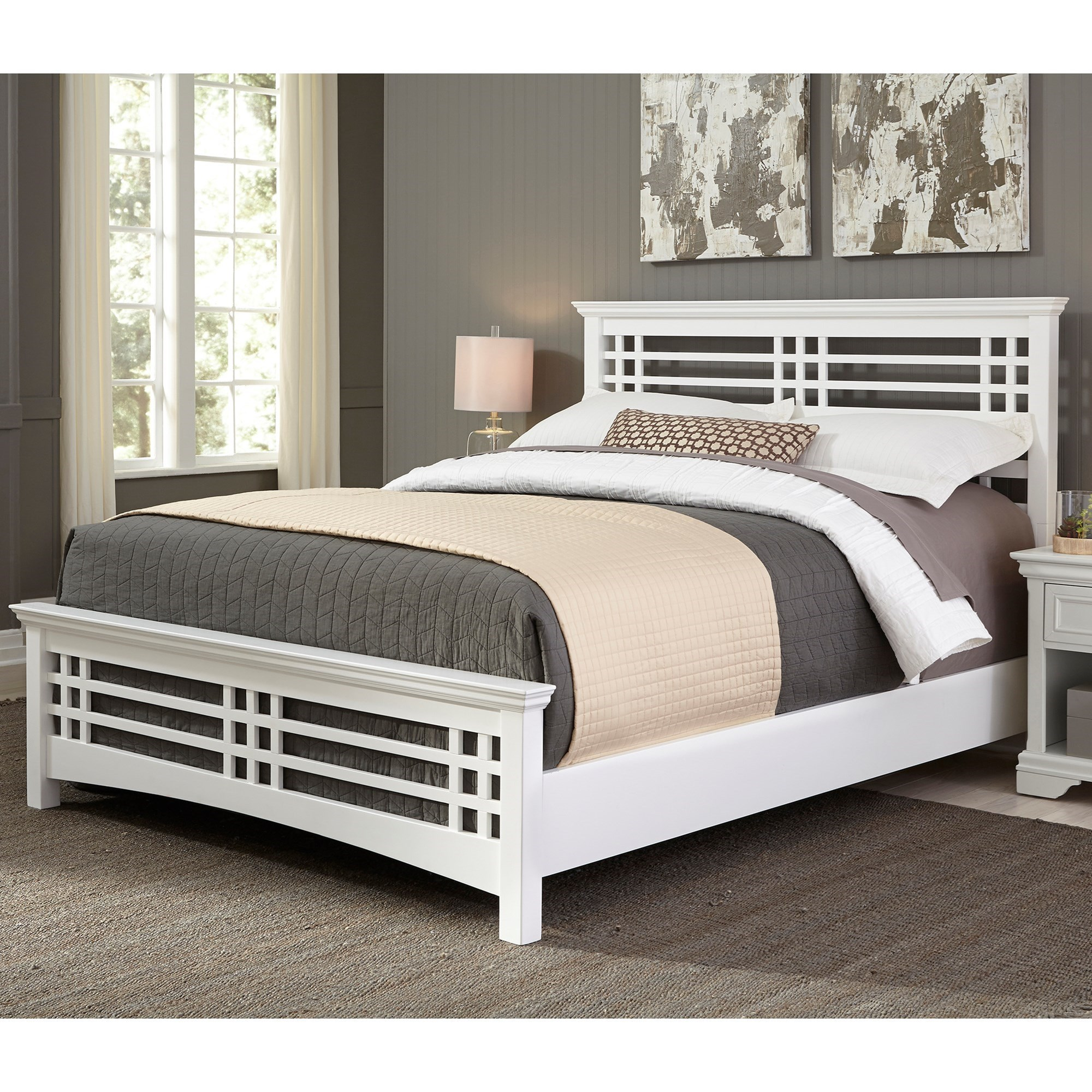 Fashion bed group avery b21156 avery king bed with wood for Mission style bed frame plans