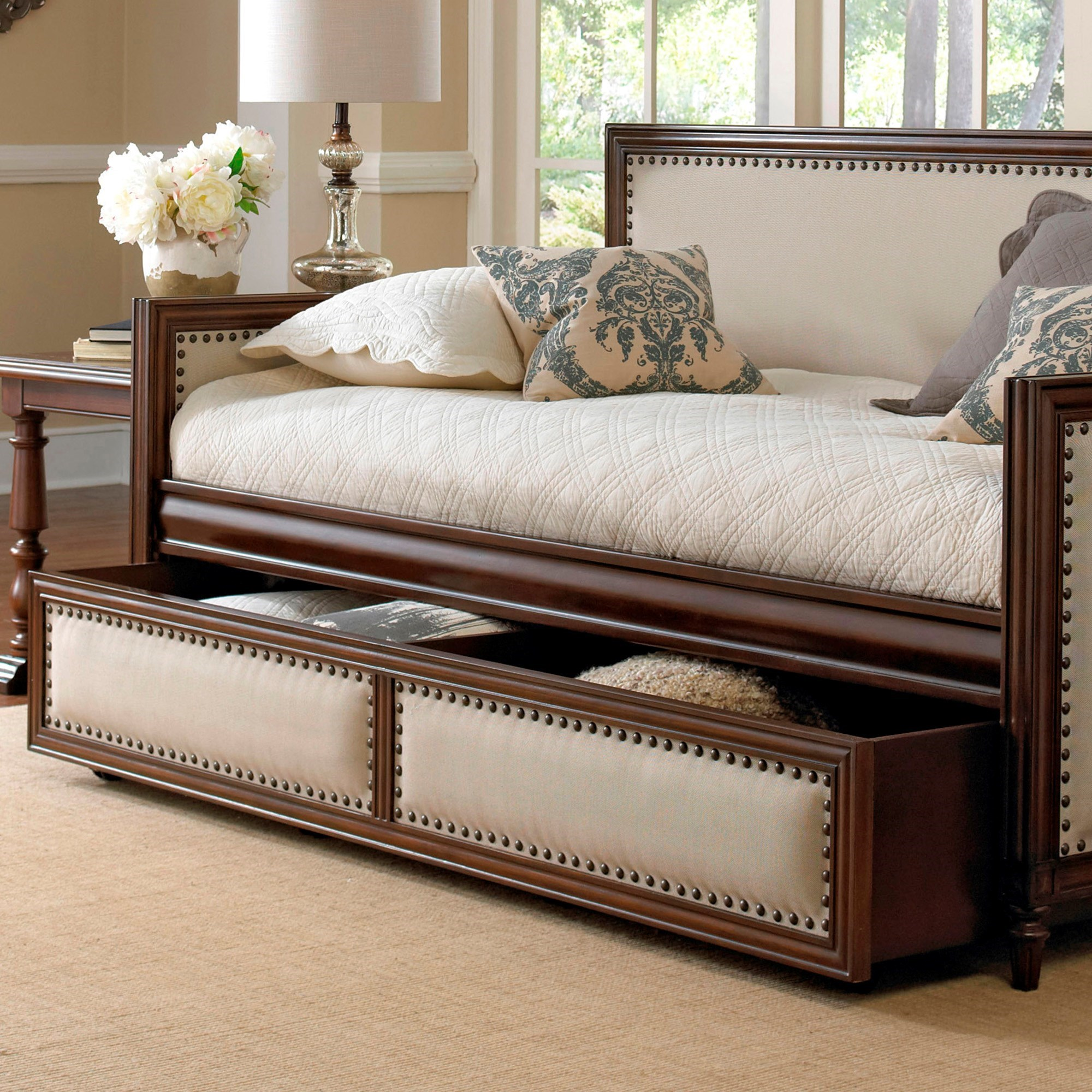 fashion bed group daybeds b50030 roll out wood trundle drawer for grandover daybed with espresso. Black Bedroom Furniture Sets. Home Design Ideas