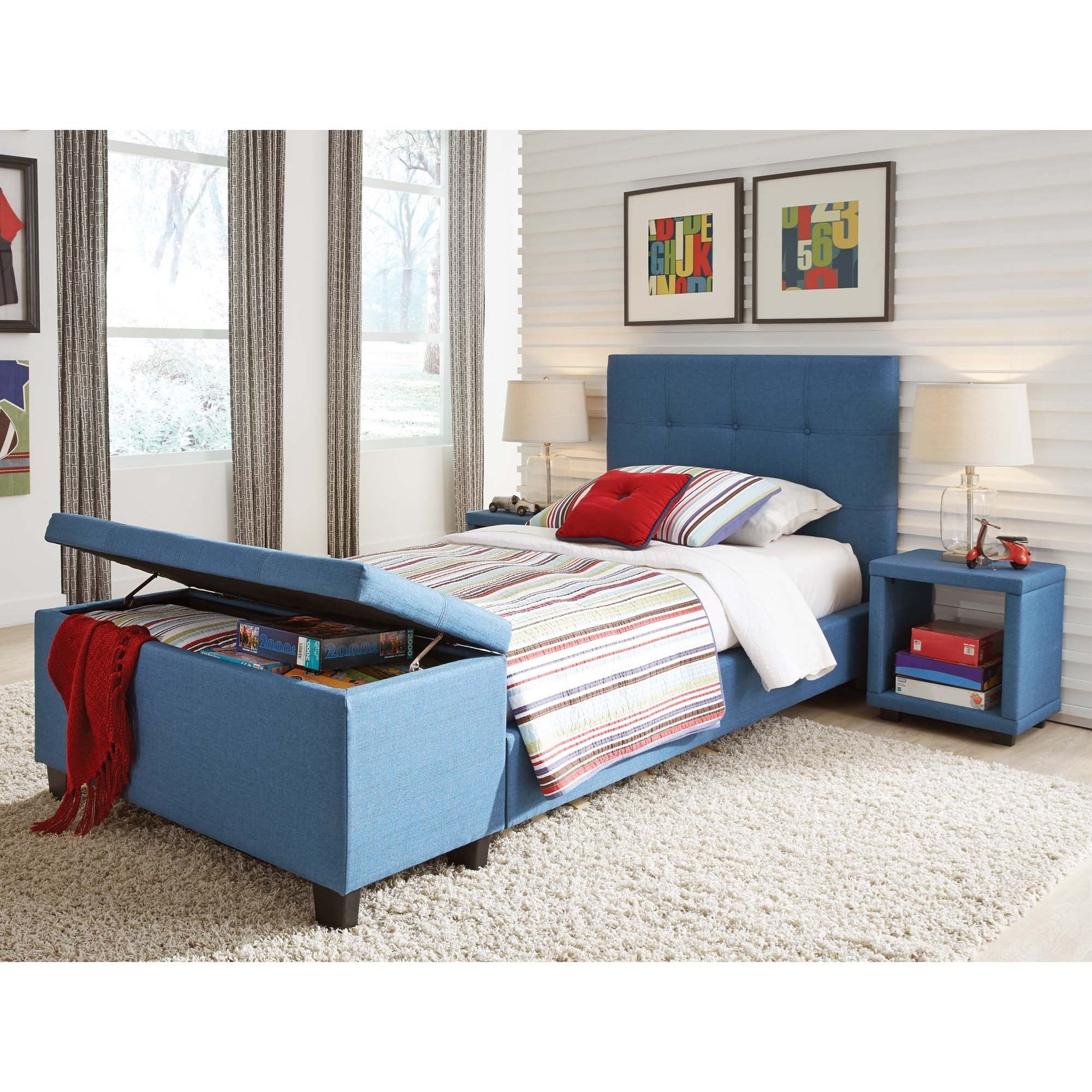 Fashion bed group henley b71d33 twin henley storage for Bedroom groups