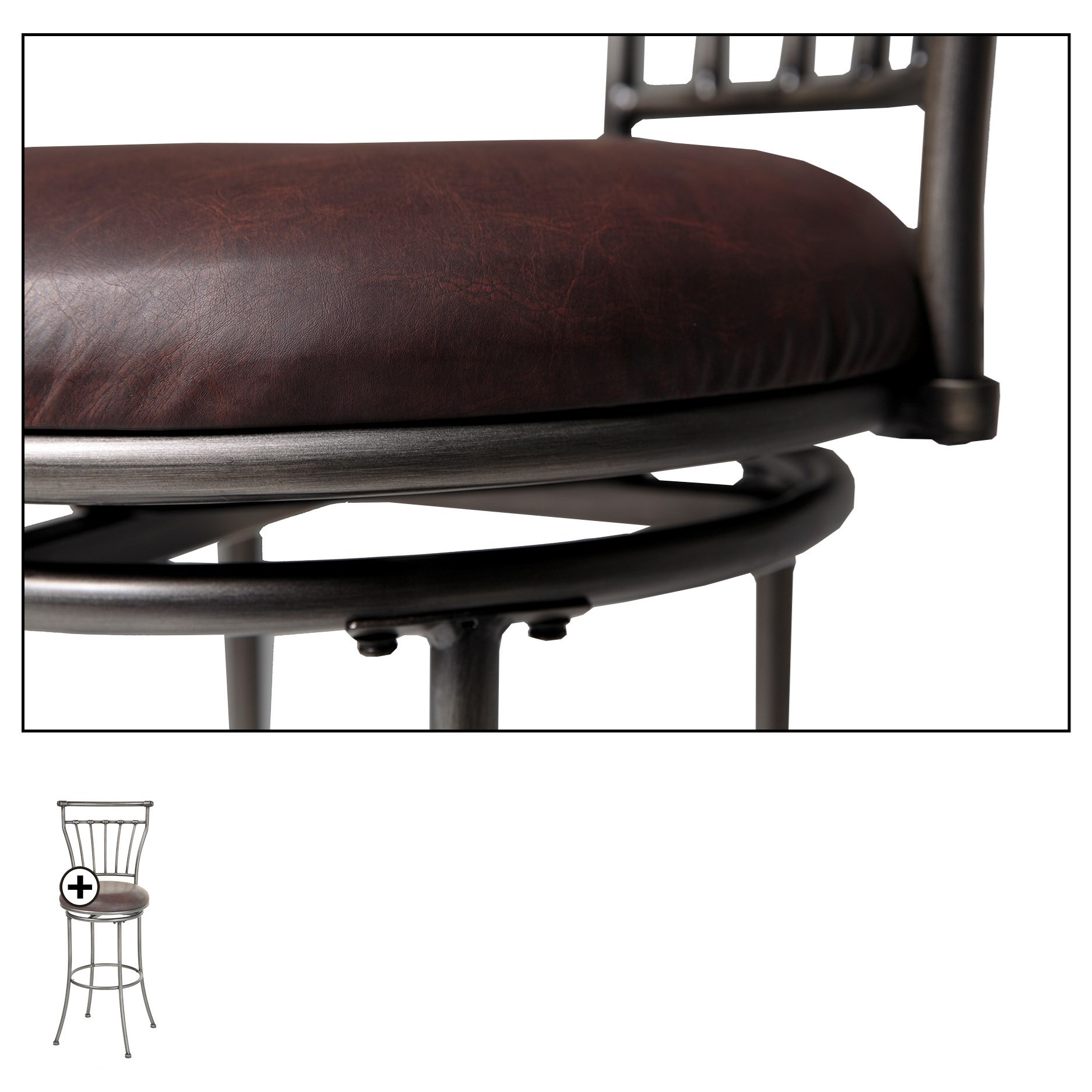 Fashion Bed Group Metal Barstools Transitional Topeka