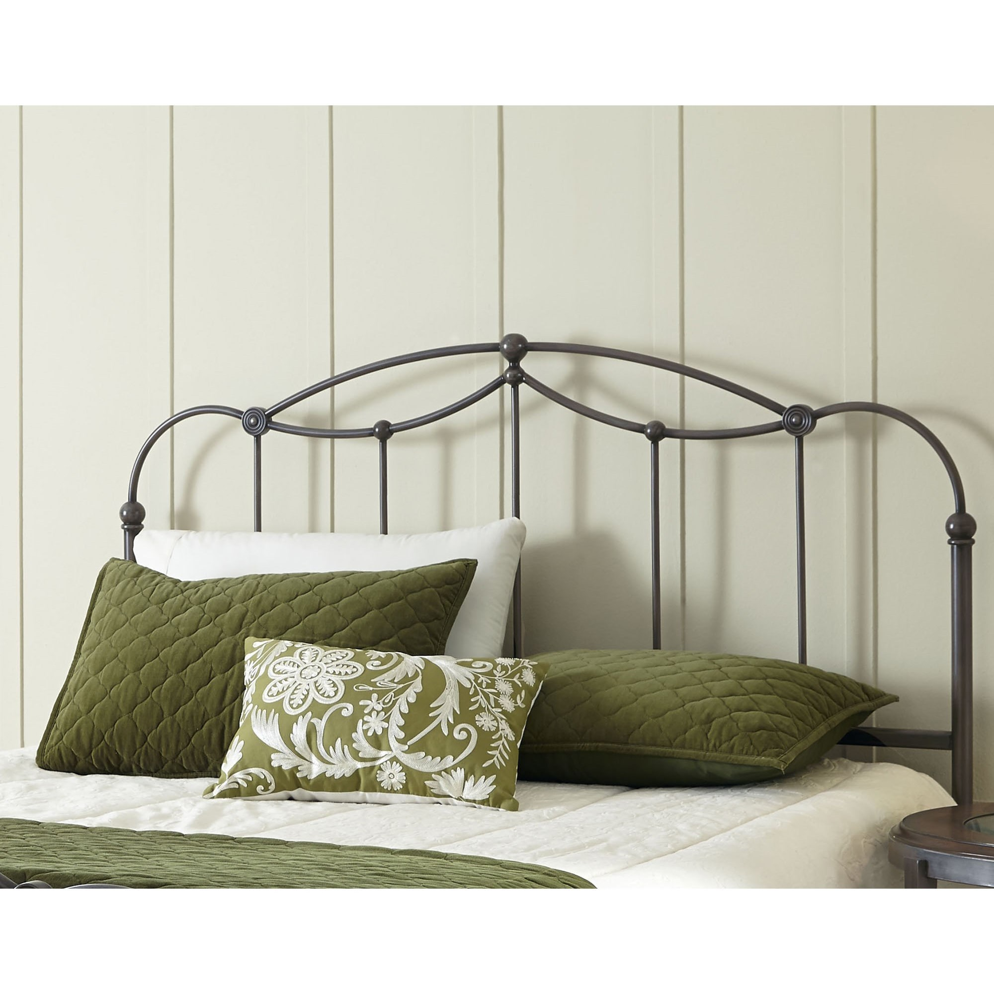 Fashion Bed Group Metal Beds Queen Transitional Affinity Metal Headboard Fa