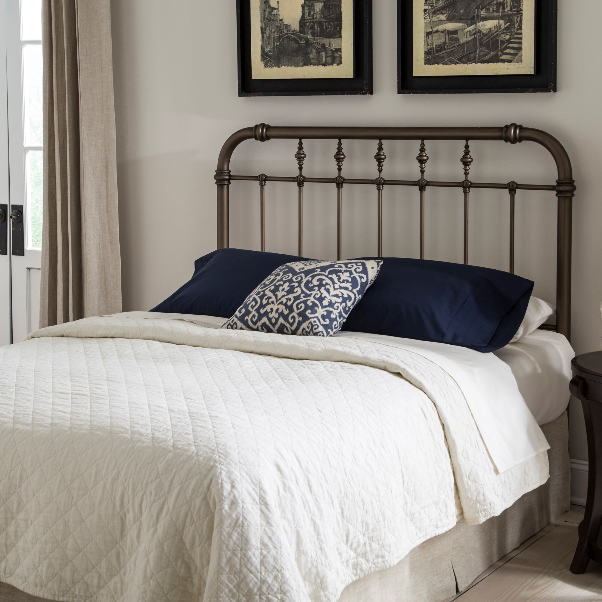 Fashion bed group metal beds california king transitional for California king headboard