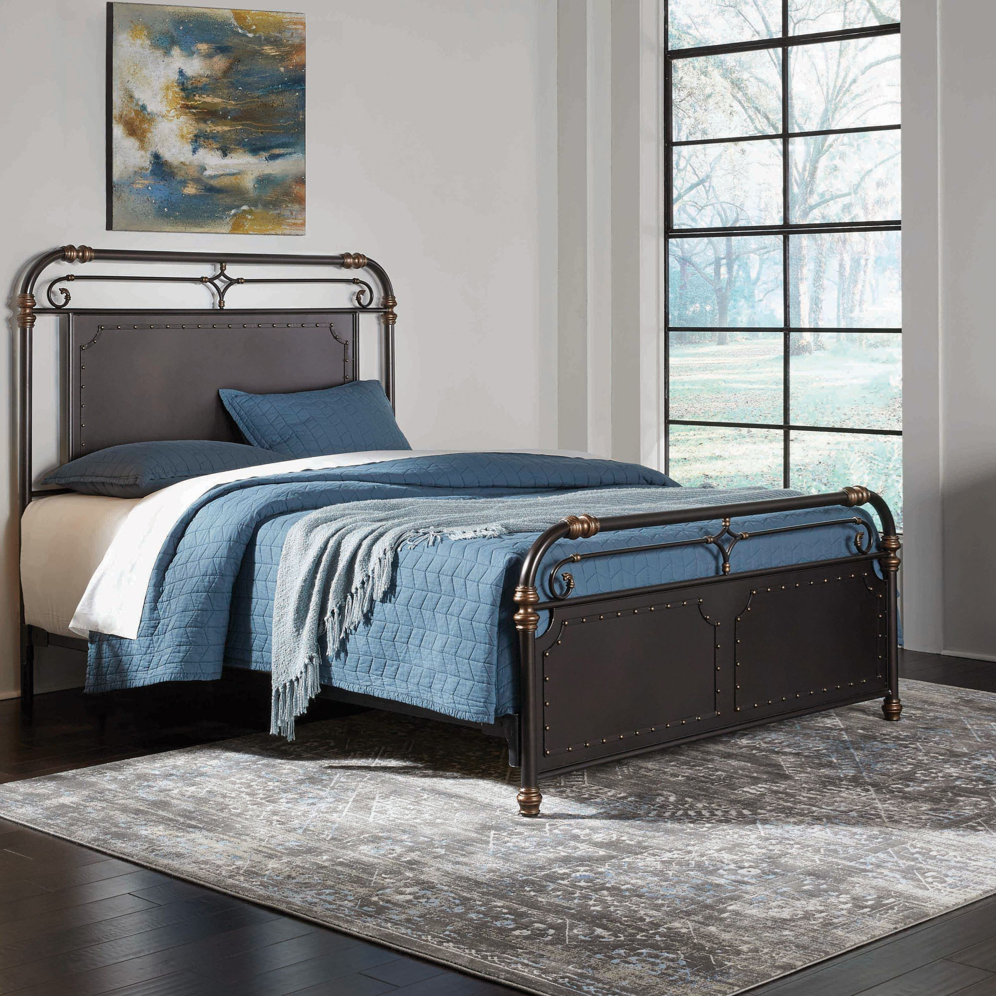 Fashion Bed Group Westchester B11d45 Queen Westchester Complete Metal Bed Hudson 39 S Furniture