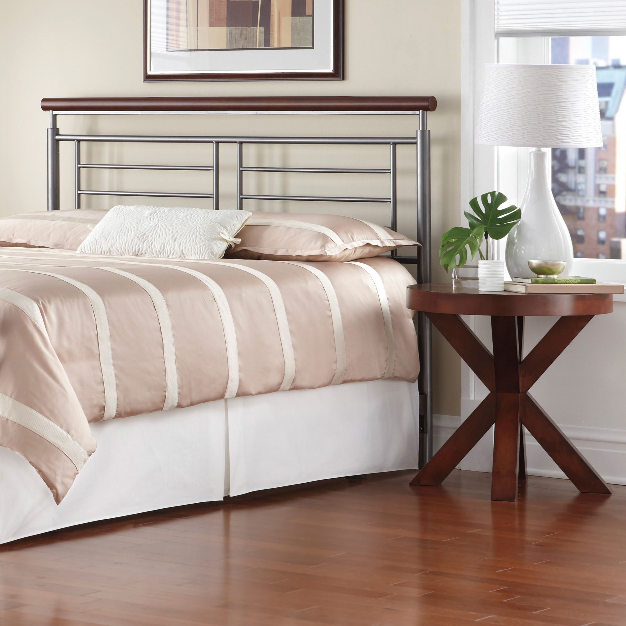 fashion bed group wood and metal beds b12976 king fontane headboard baer 39 s furniture headboards. Black Bedroom Furniture Sets. Home Design Ideas
