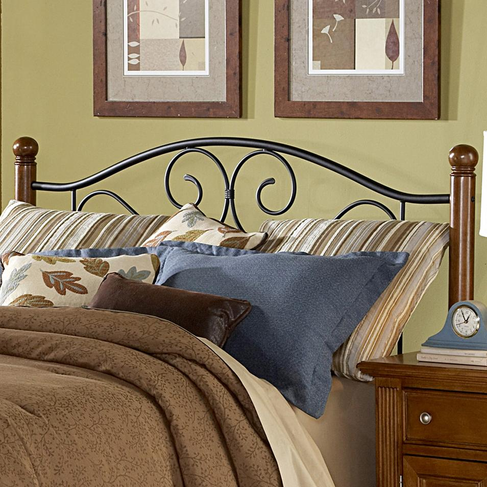 Wood Metal Bed : Wood and Metal Beds King/California King Doral Headboard by Fashion ...