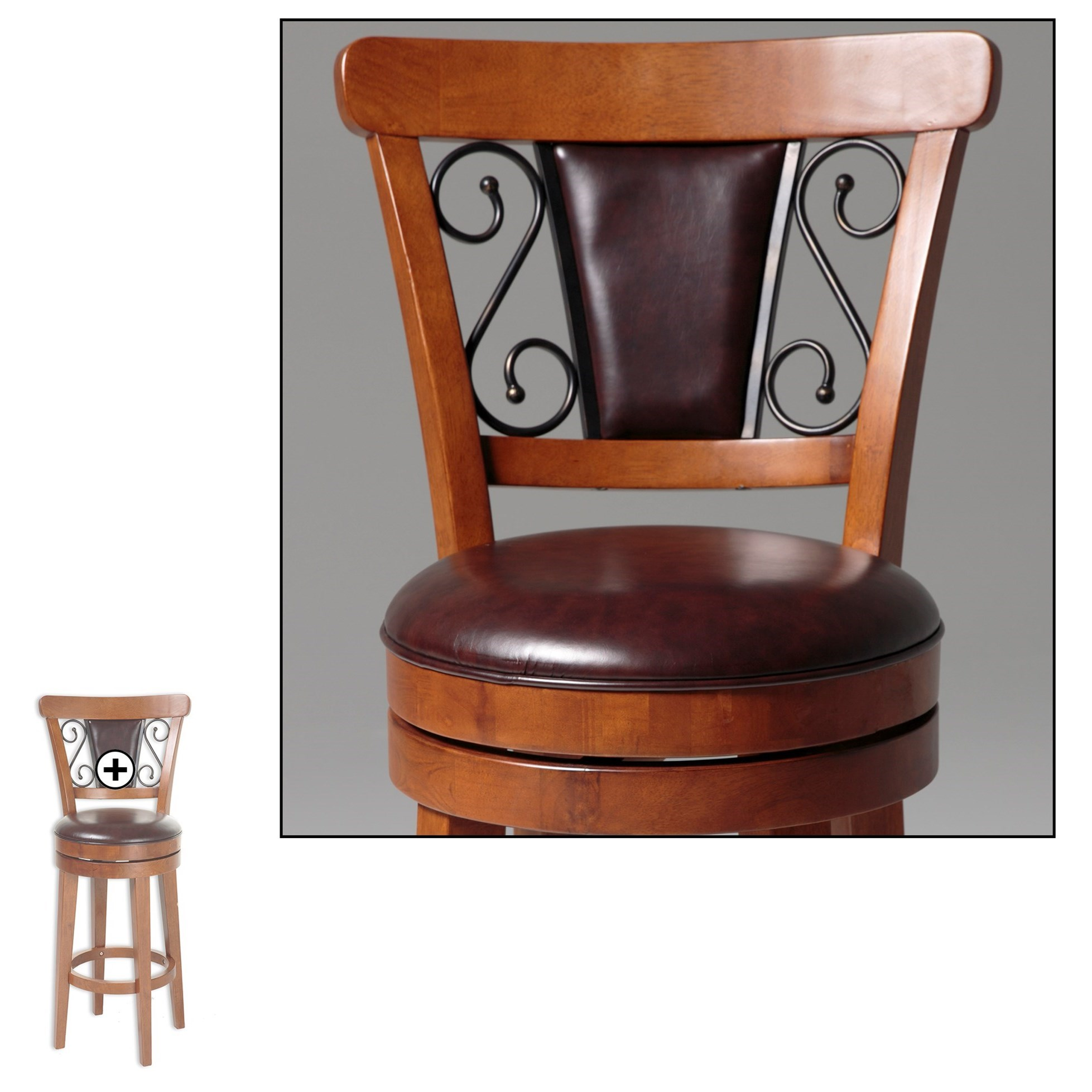 Fashion Bed Group Wood Barstools Trenton Wood Counter