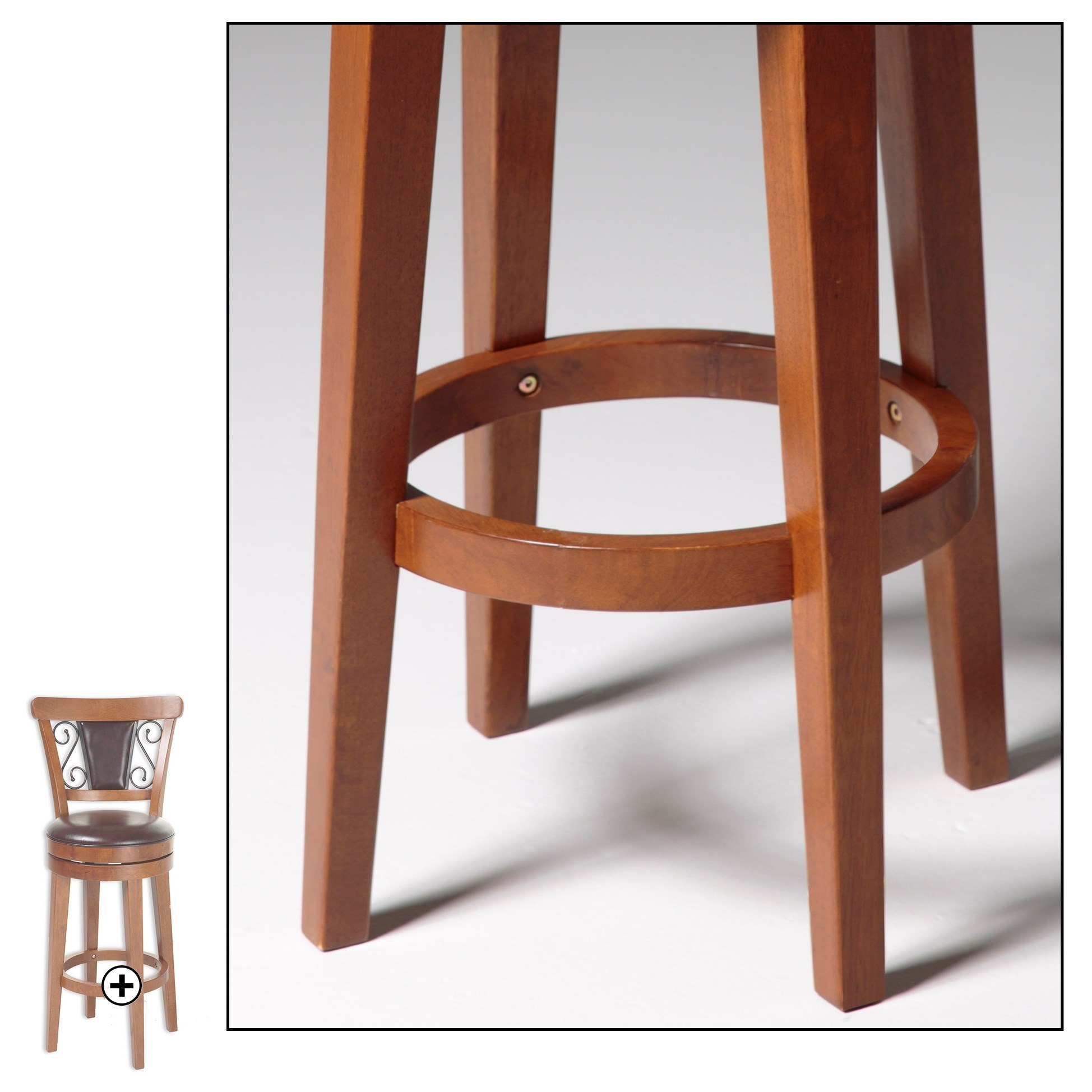 Fashion Bed Group Wood Barstools C1x076 Trenton Wood