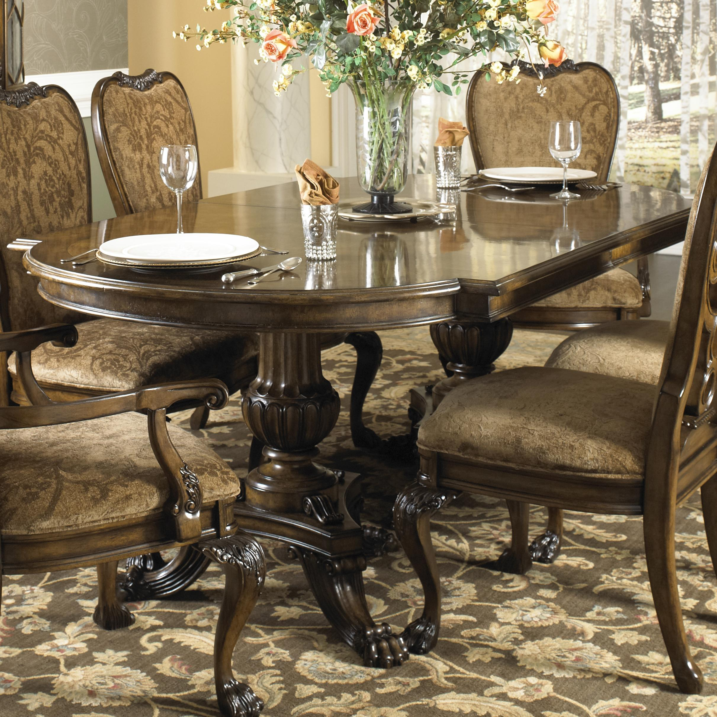 Belvedere formal dining table with two hand carved for Formal dining table