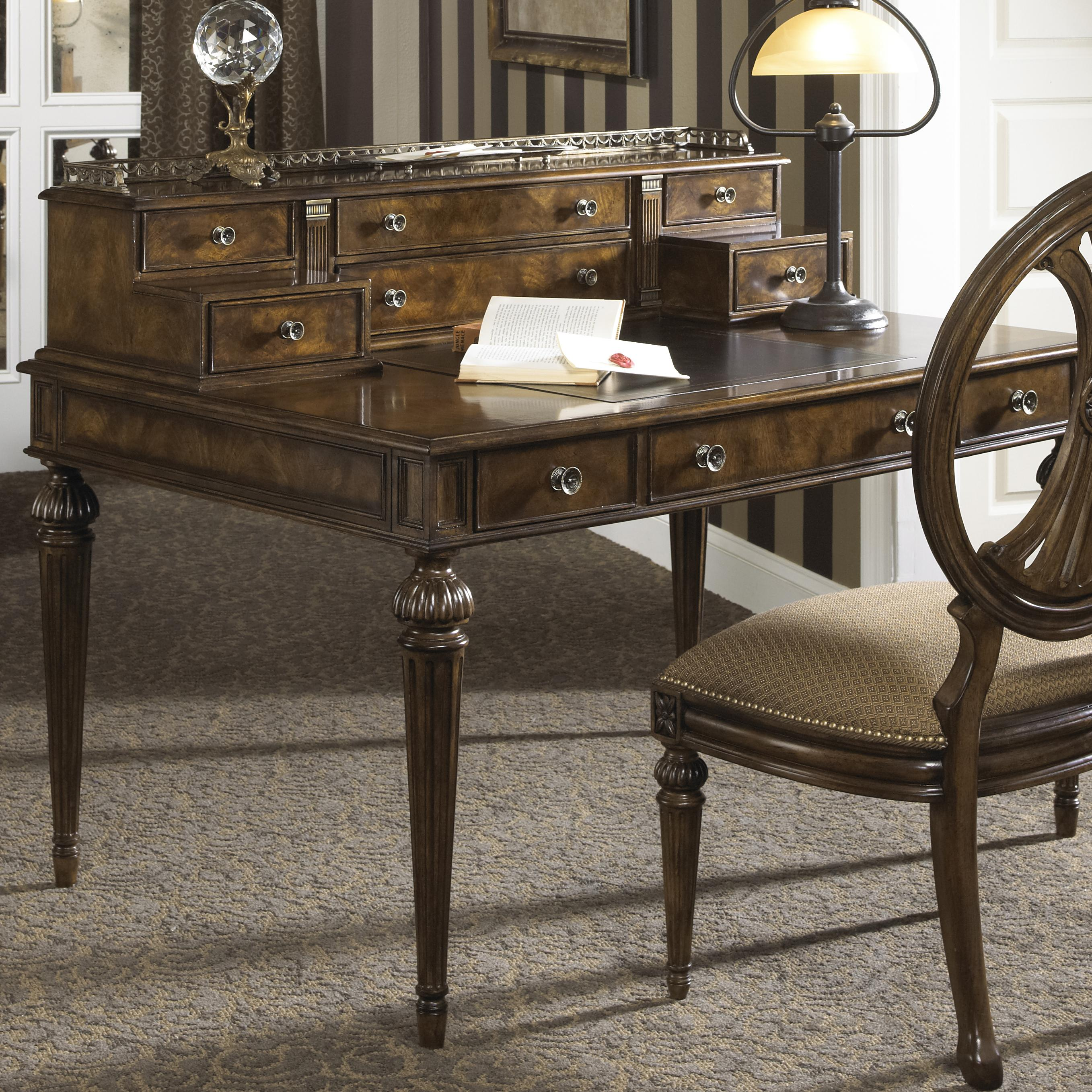Writers Desk Furniture ~ Traditional syle writing desk with nine drawers and