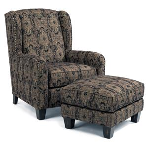 Flexsteel Accents Plaza Swivel Glider With Nailhead Trim