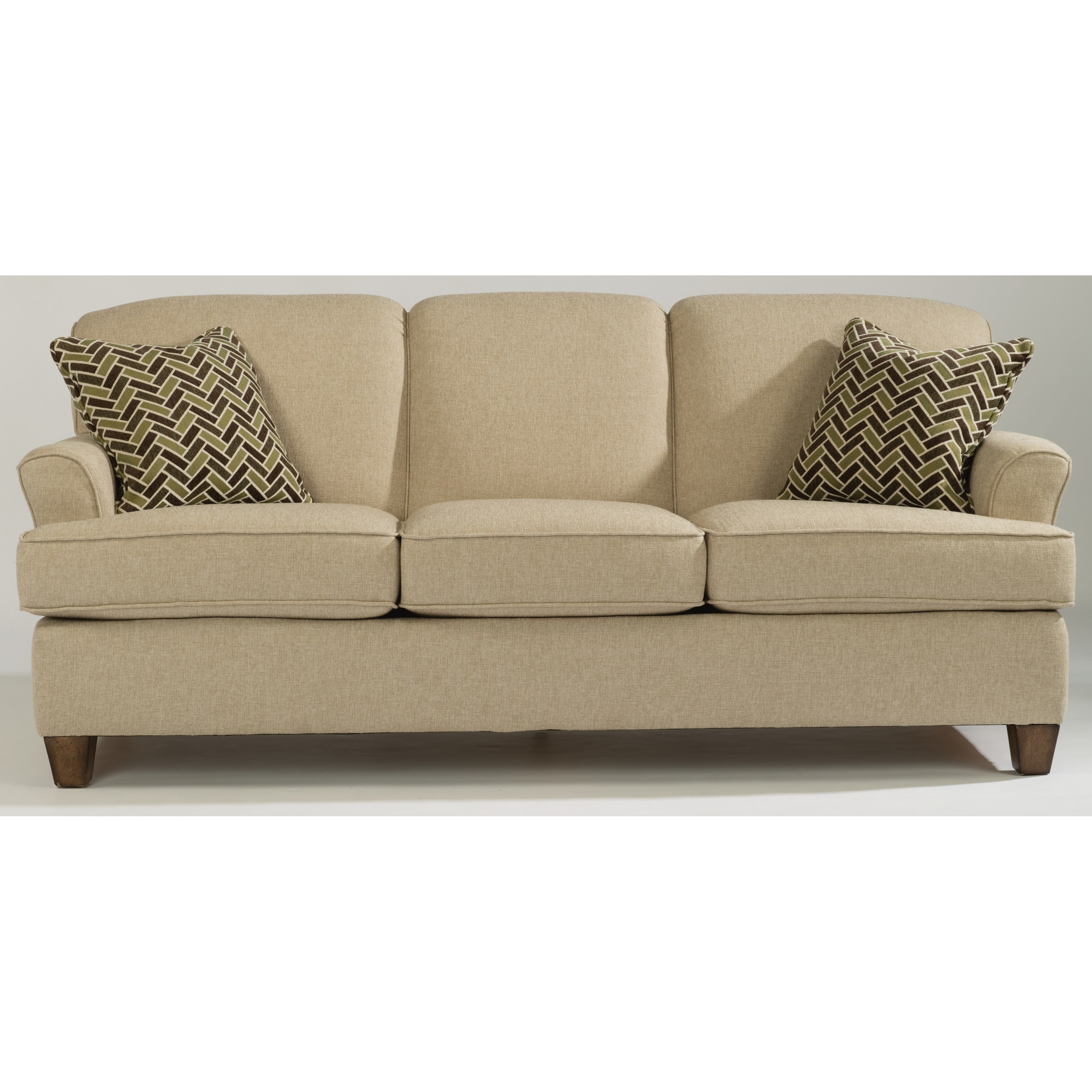 Flexsteel atlantis casual sofa with flared arms belfort for Sofas el tresillo