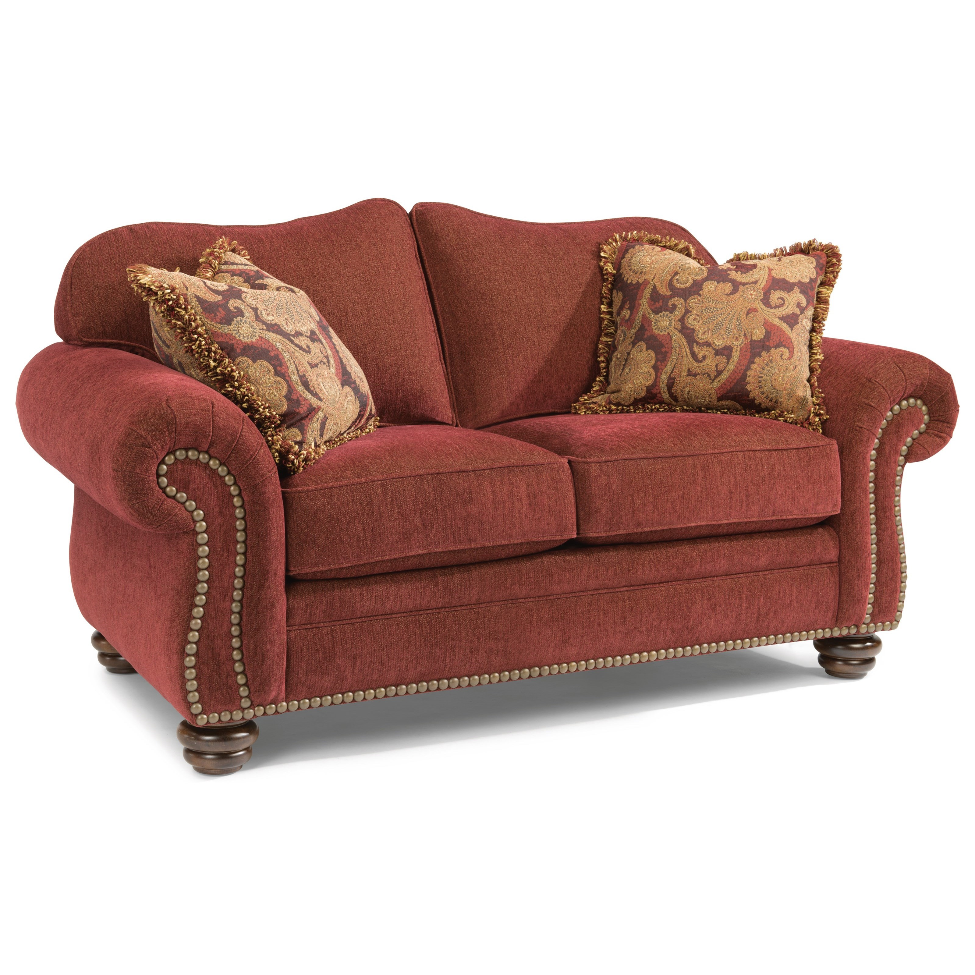 flexsteel bexley traditional love seat with nailhead trim boulevard home furnishings love seats. Black Bedroom Furniture Sets. Home Design Ideas