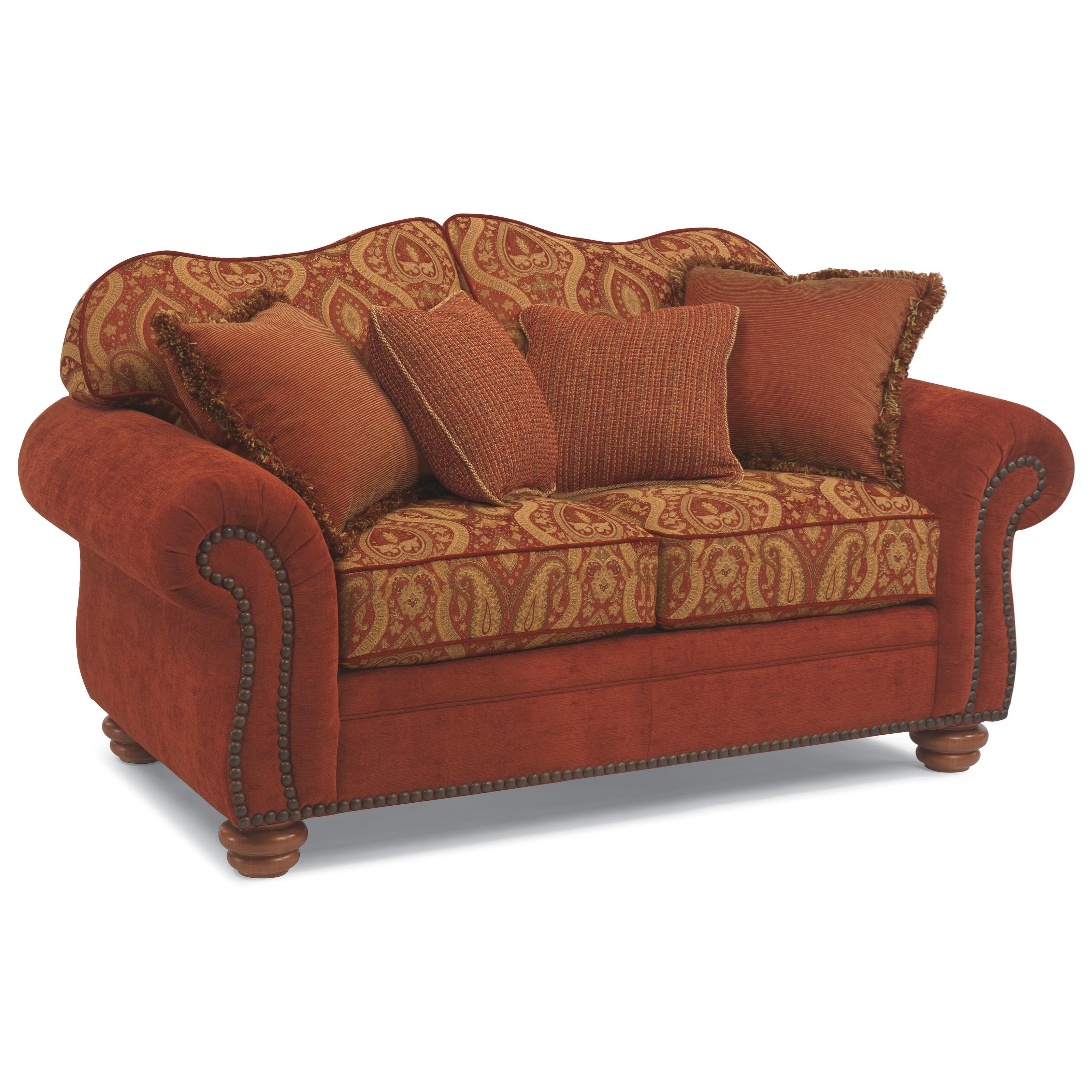 Flexsteel bexley melange love seat with nails wayside for Wayside furniture
