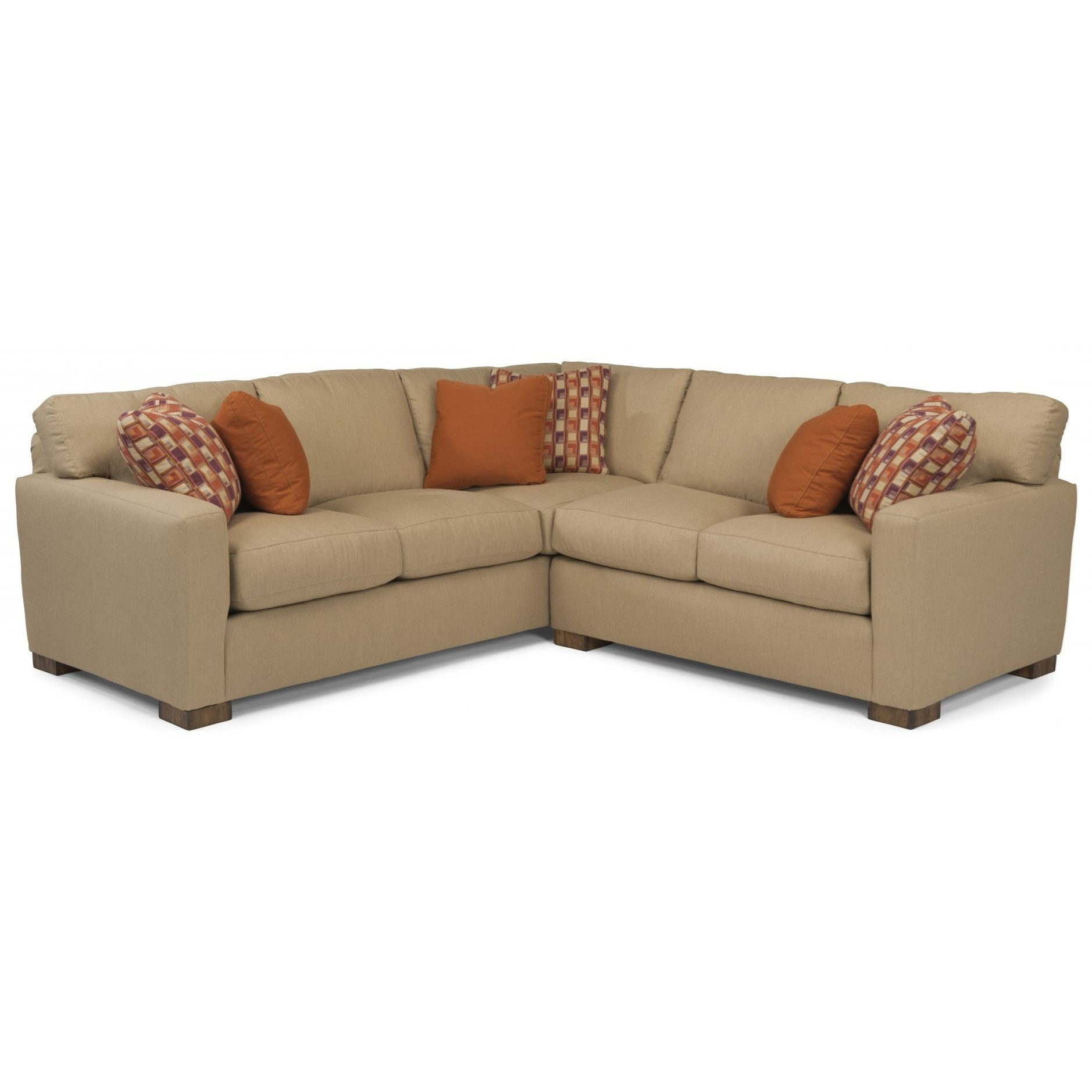 Flexsteel bryant contemporary 4 seat sectional sofa for Sofa 1 80 breit