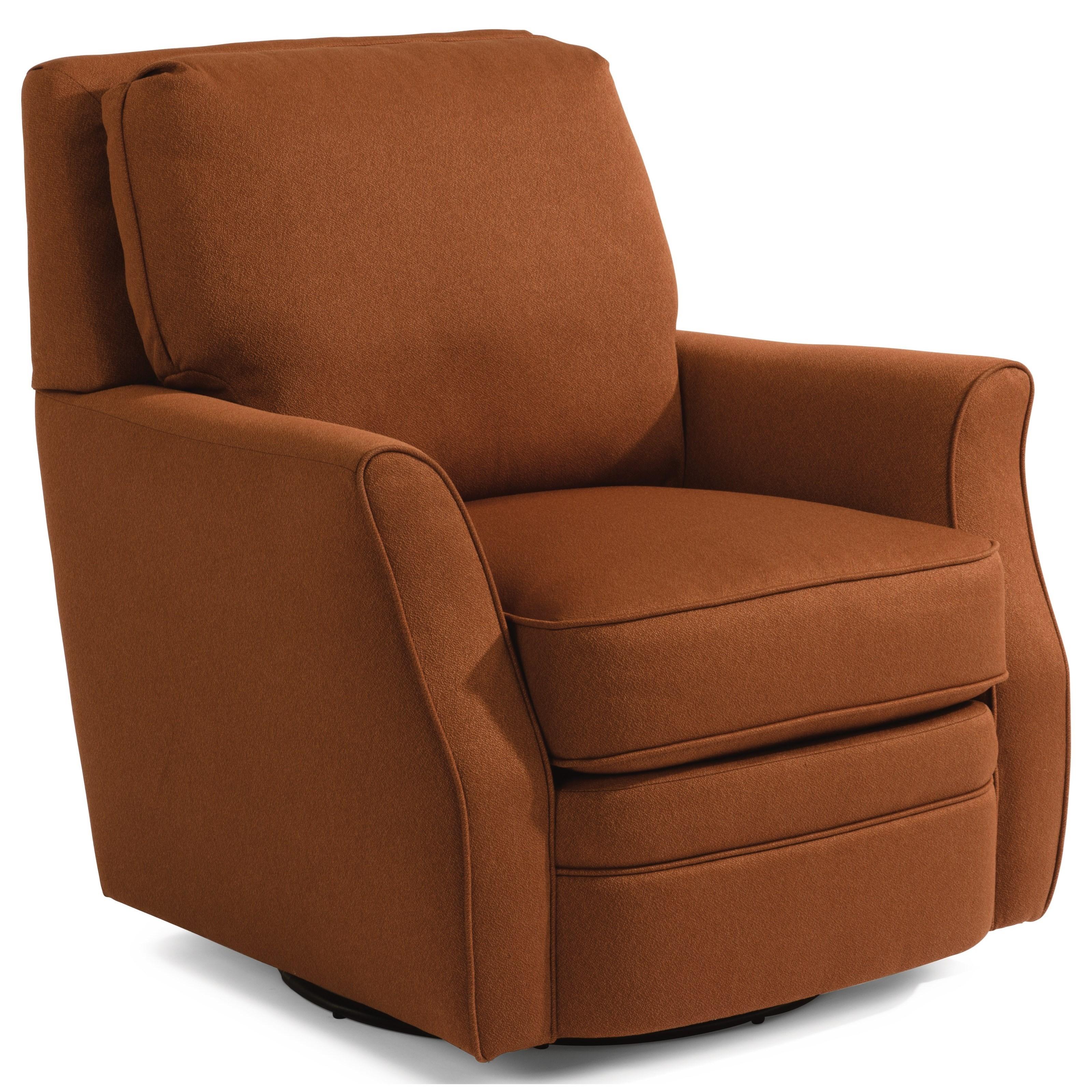 Flexsteel Brynn Casual Swivel Chair Belfort Furniture Upholstered Chairs