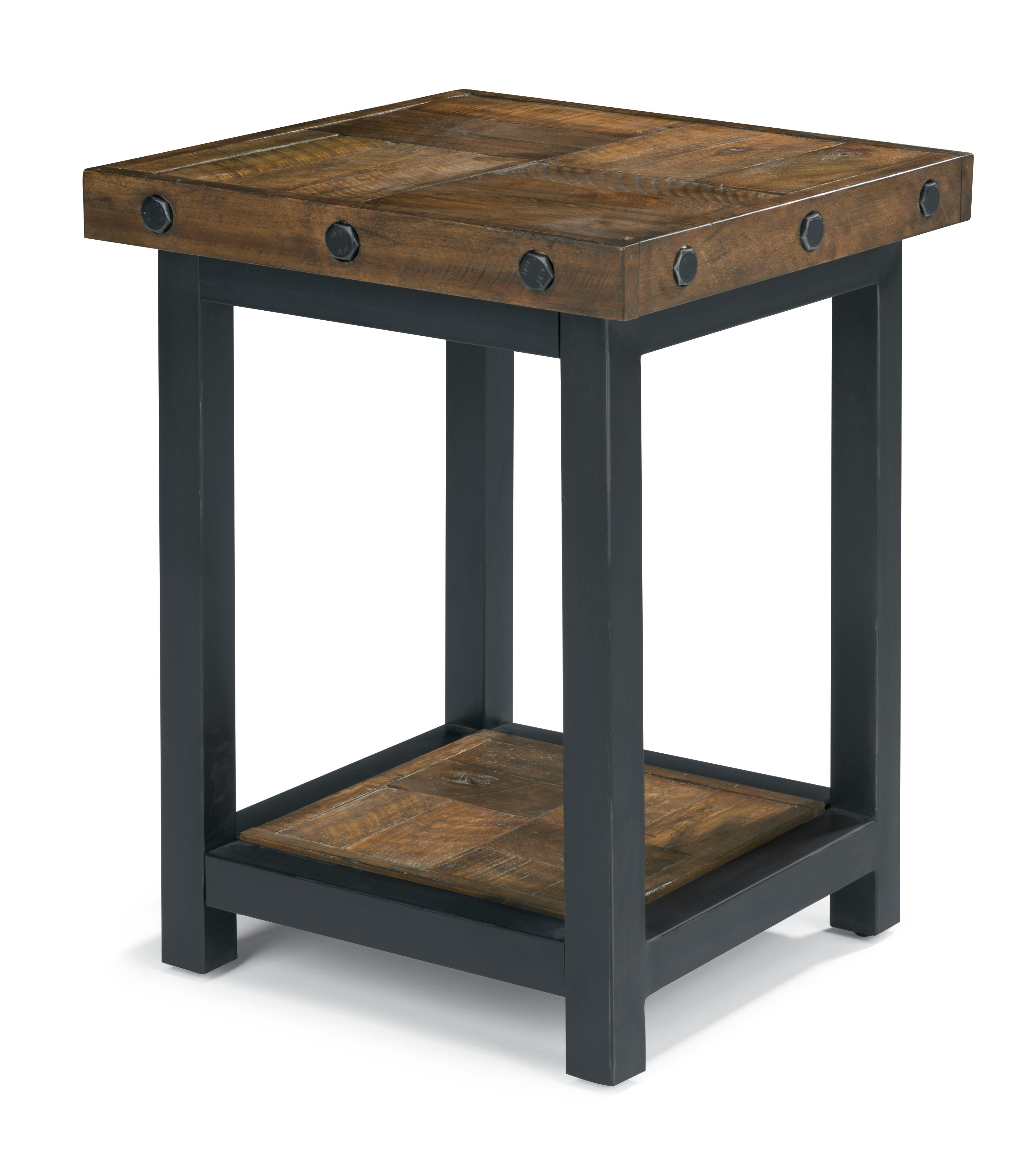 Flexsteel carpenter 6722 07 chair side table with square for Bright colored side tables