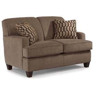 Flexsteel Dempsey Contemporary Sofa with Track Arms