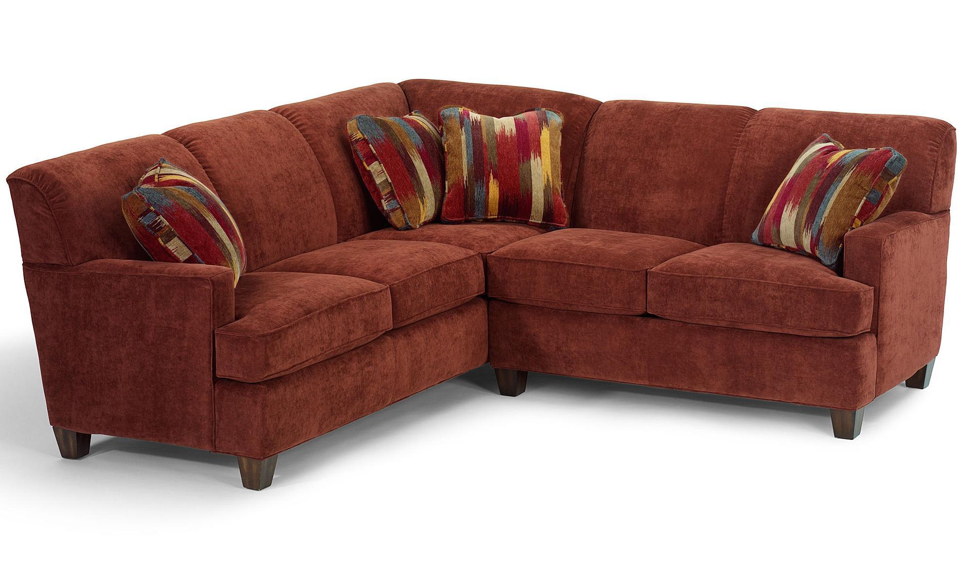 Flexsteel dempsey contemporary 2 piece sectional sofa with for 2 piece sectional sofa with recliner