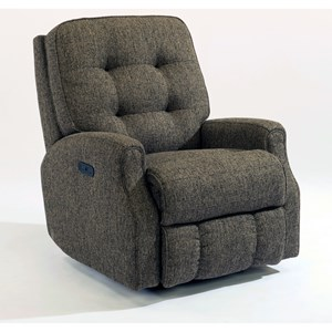 Flexsteel Devon Button Tufted Power Rocker Recliner With