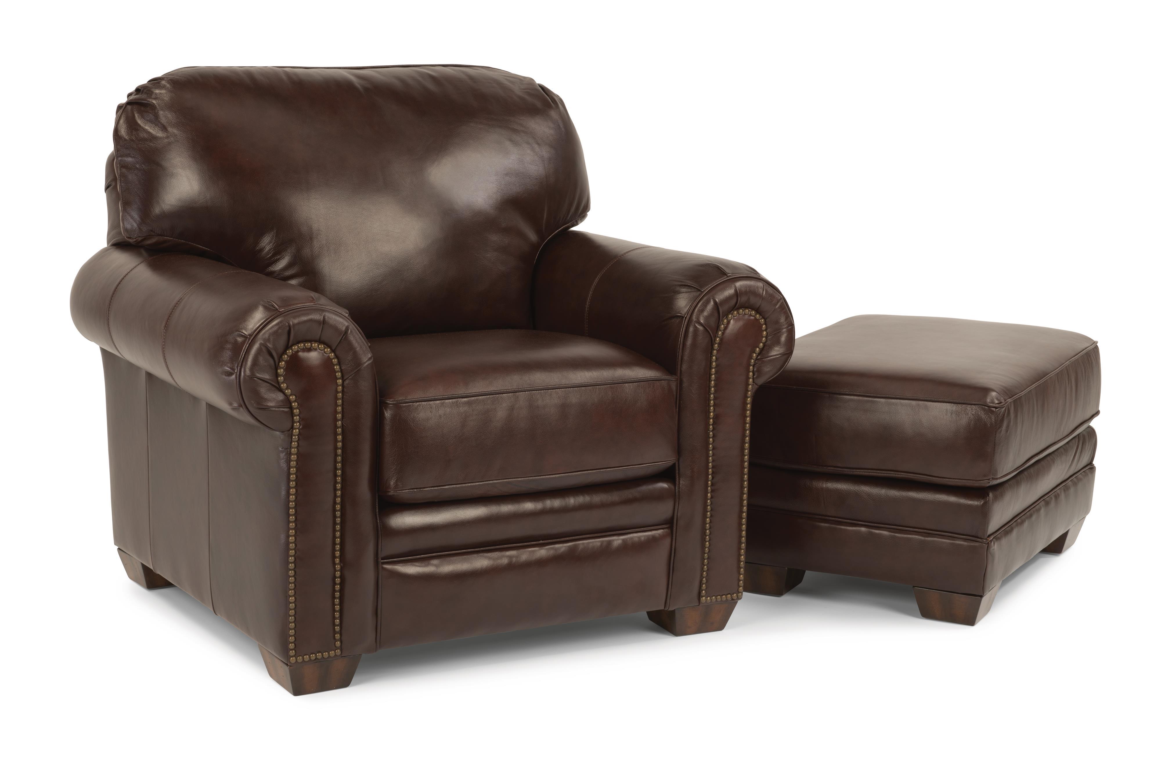 Flexsteel harrison upholstered chair and ottoman hudson for Hudsons furniture