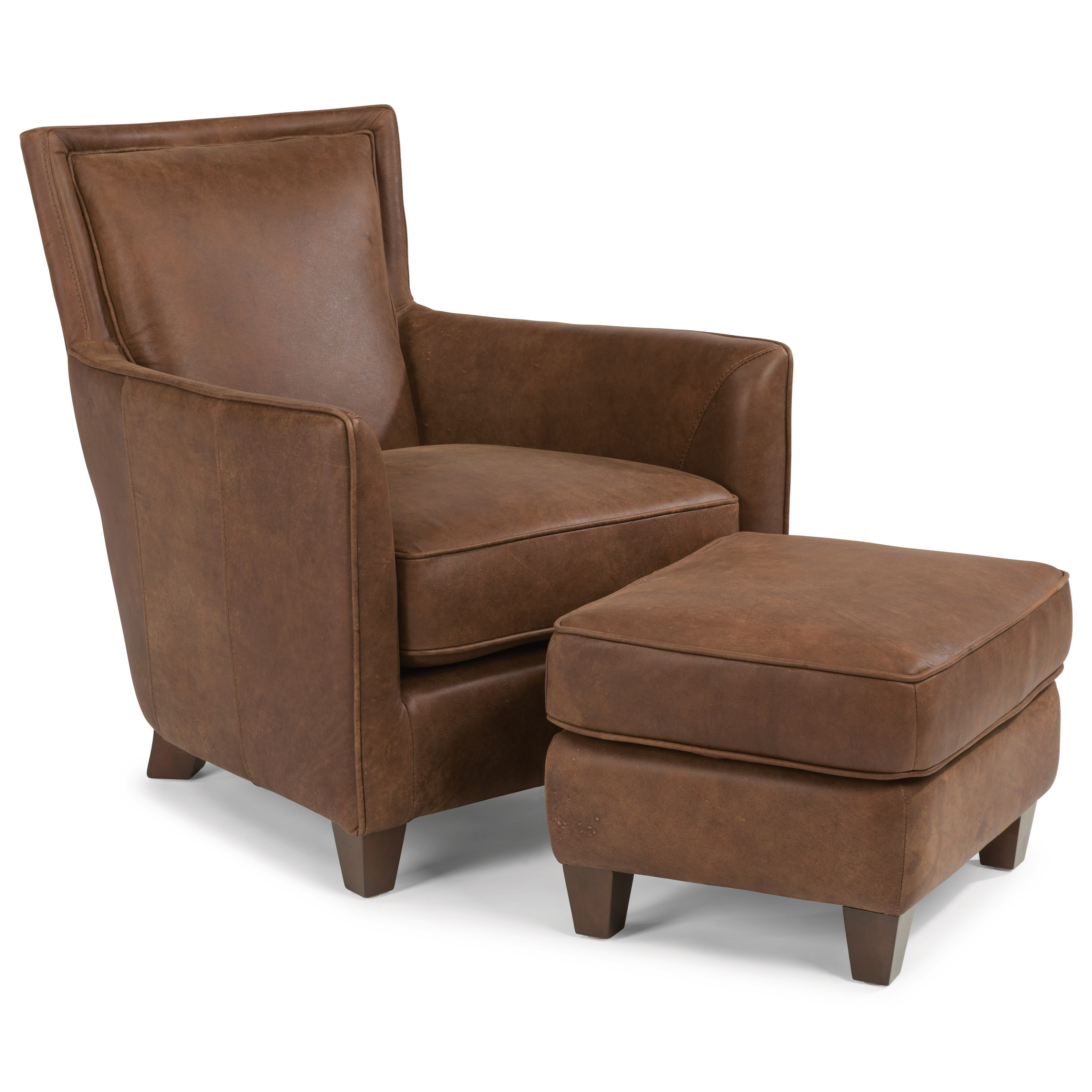 Flexsteel latitudes kingston contemporary leather chair for Furniture kingston