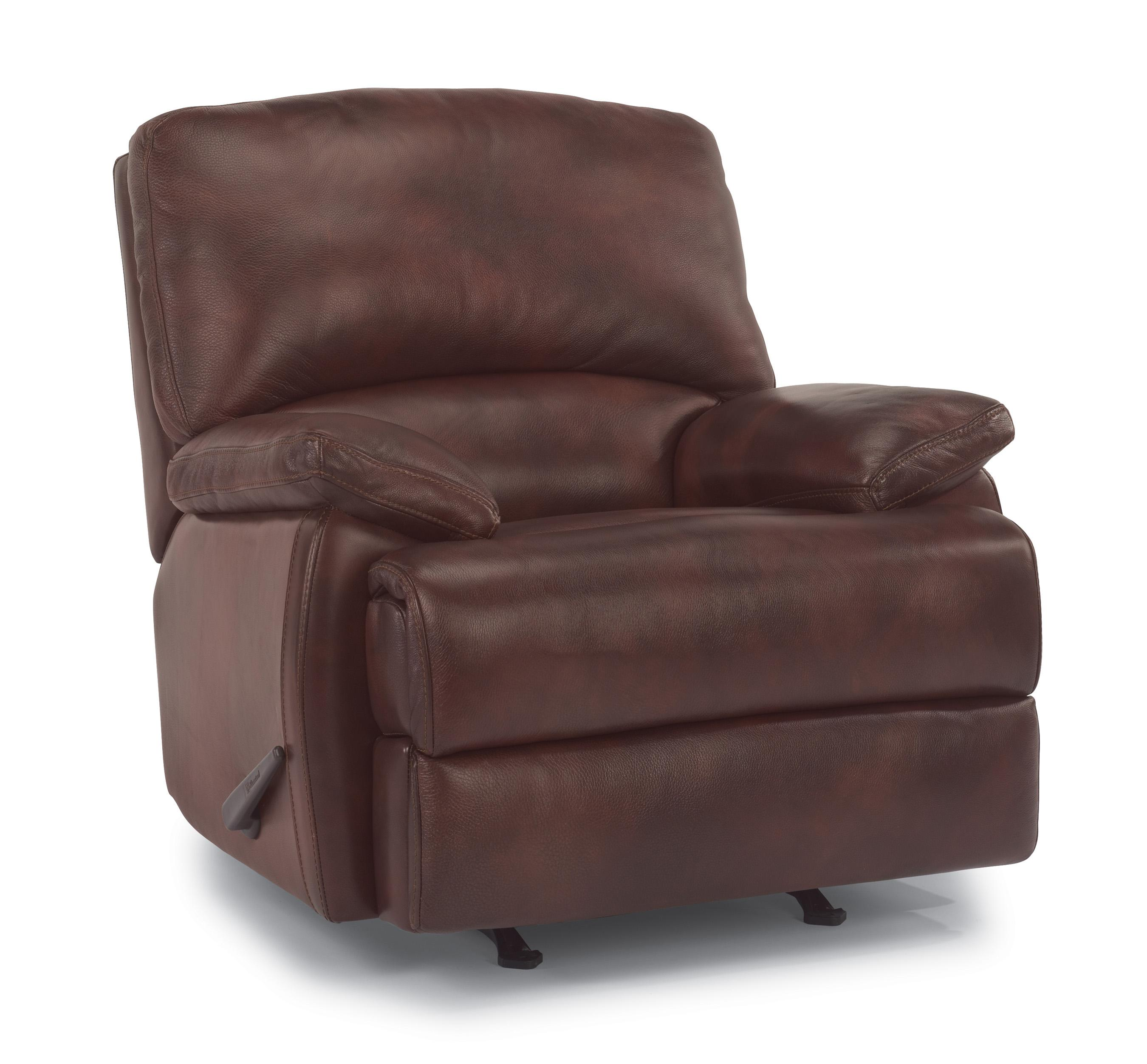 Flexsteel Latitudes - Dylan Leather Rocker Recliner - Reeds Furniture ...