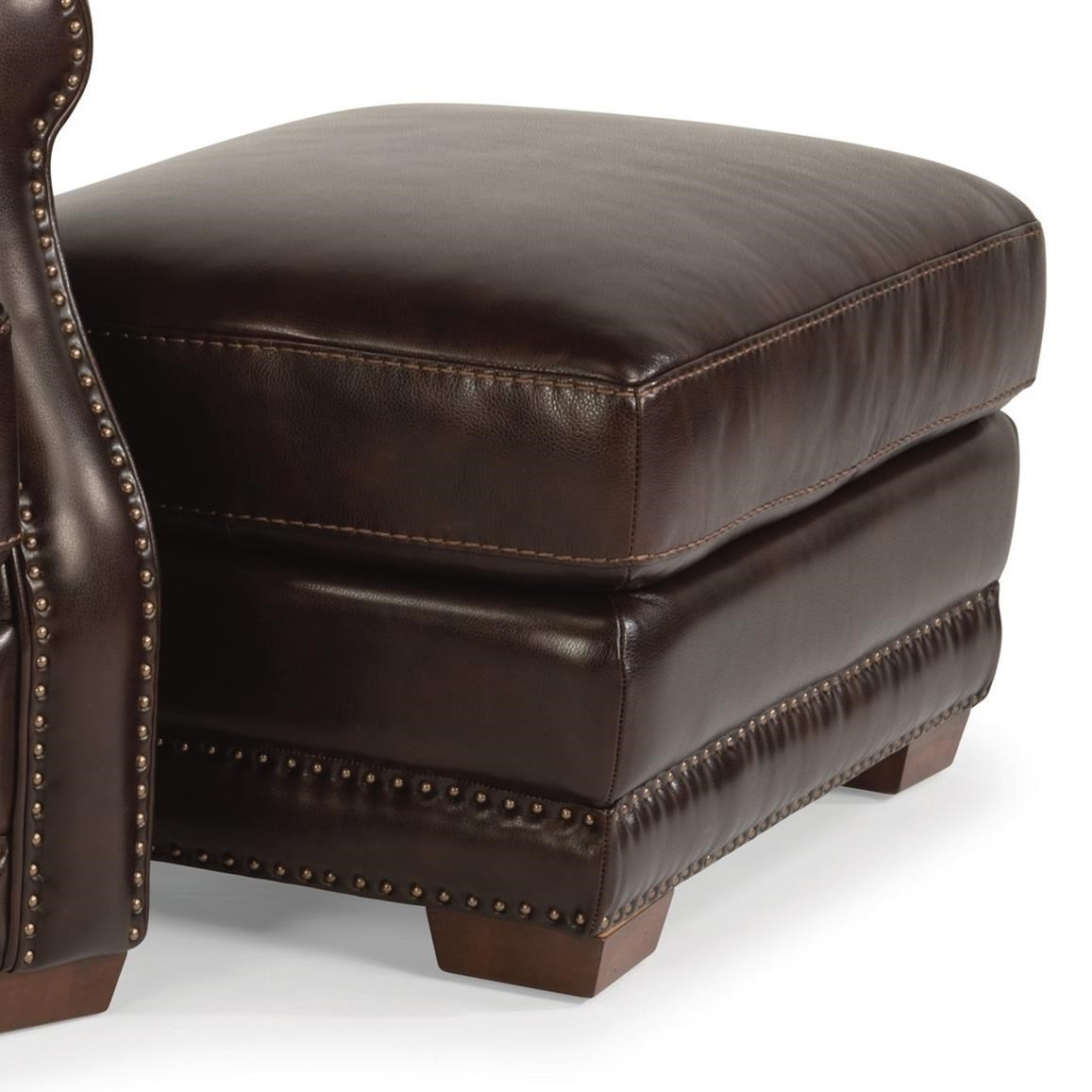 Flexsteel latitudes chandler transitional ottoman with for Wayside furniture