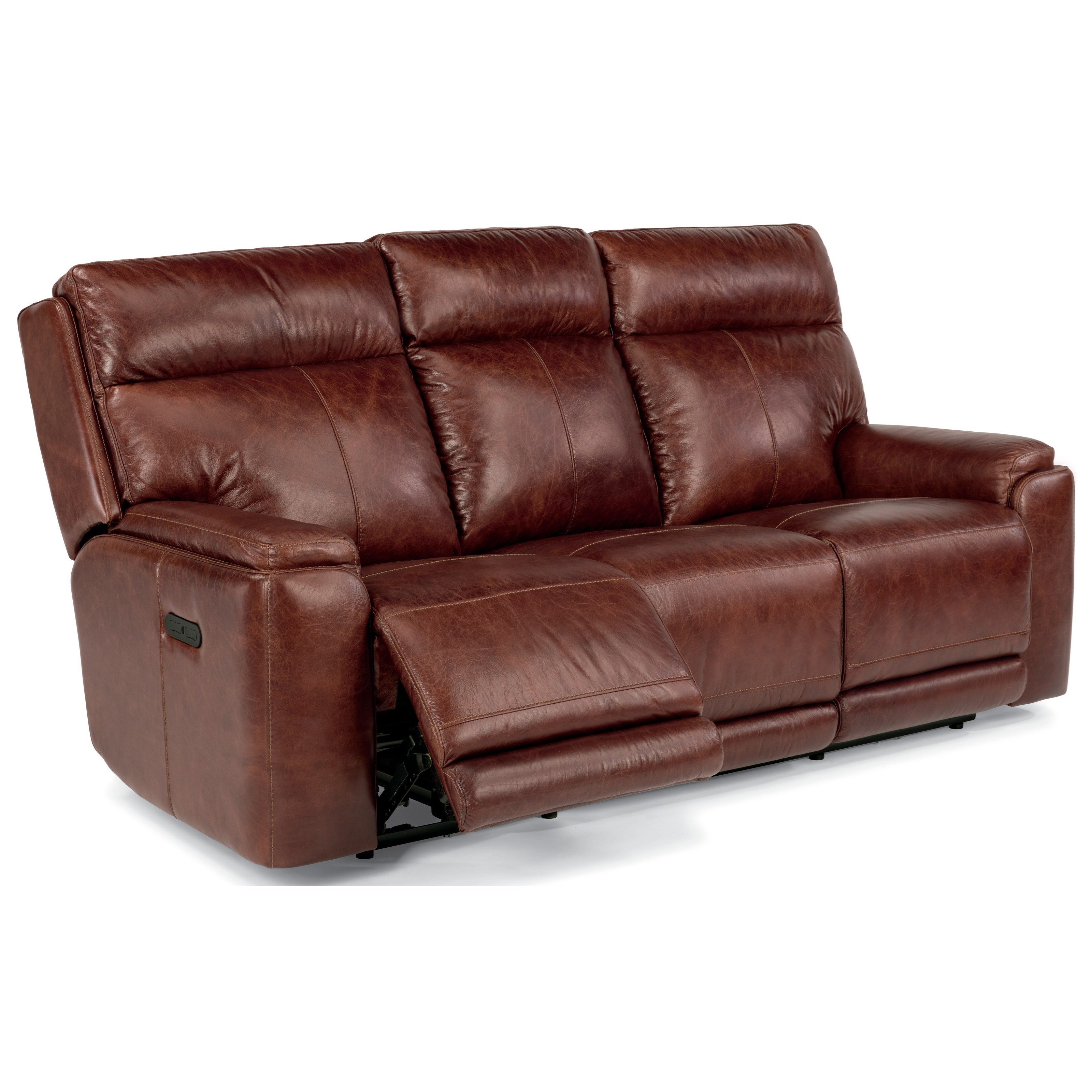 Flexsteel latitudes sienna 1675 62ph power reclining sofa with adjustable headrests and usb - Sofa reclinable ...