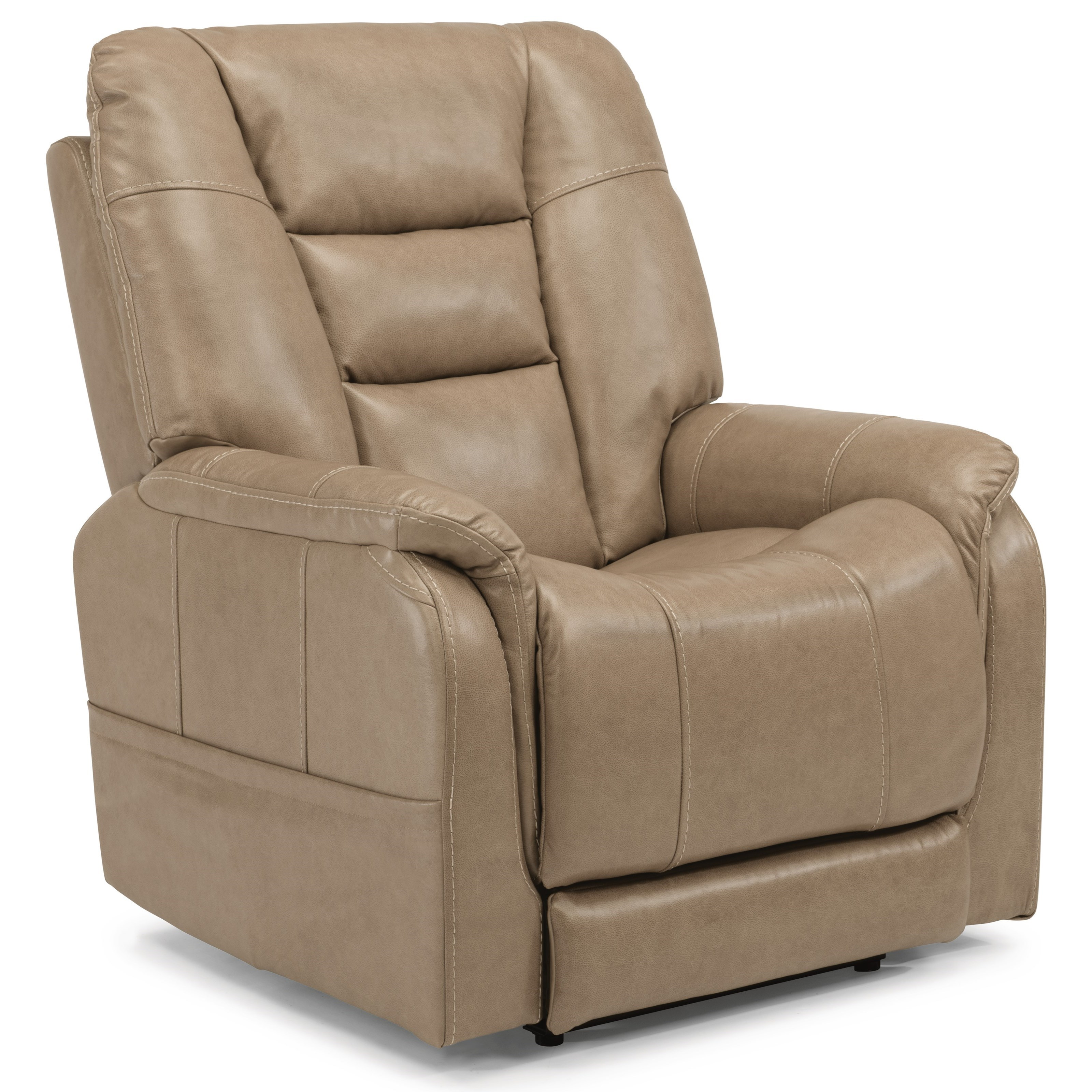 Flexsteel latitudes theo casual power recliner with power for Furniture options