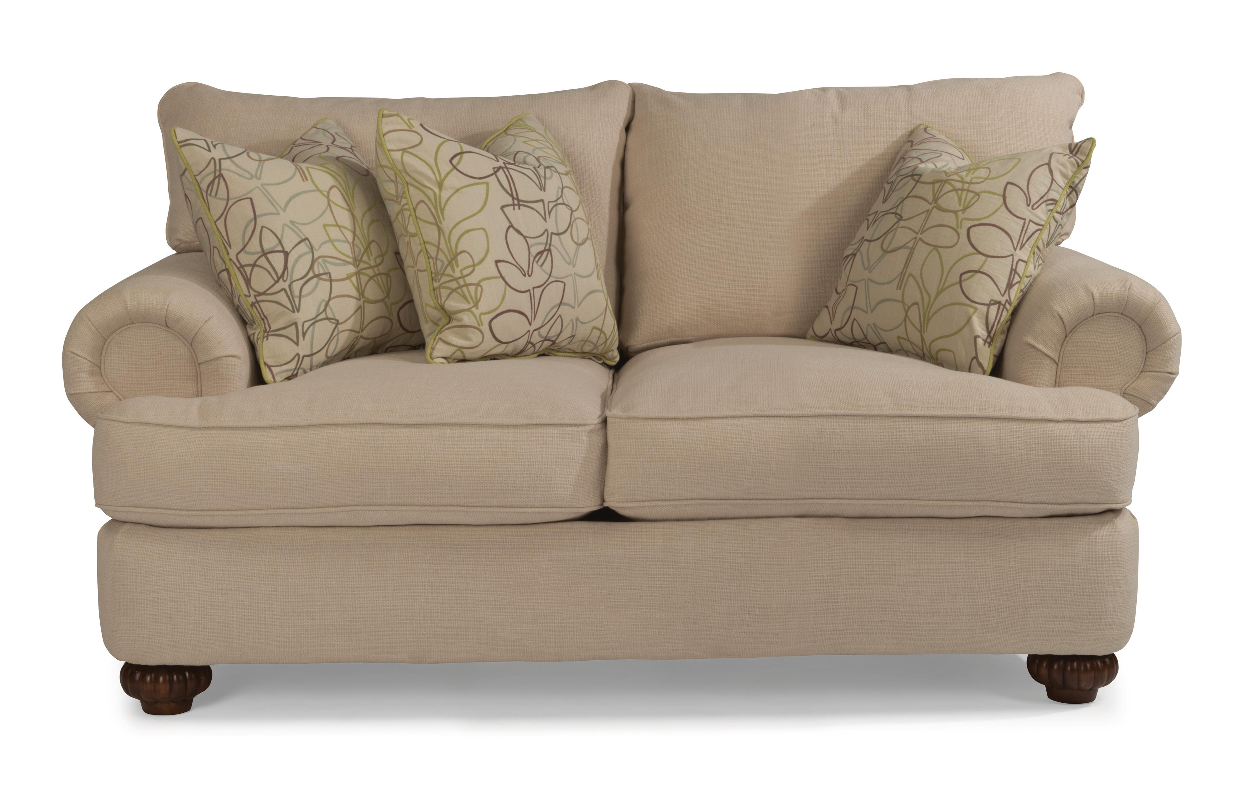 Flexsteel Patterson Loveseat with Rolled Arms Zak s Fine