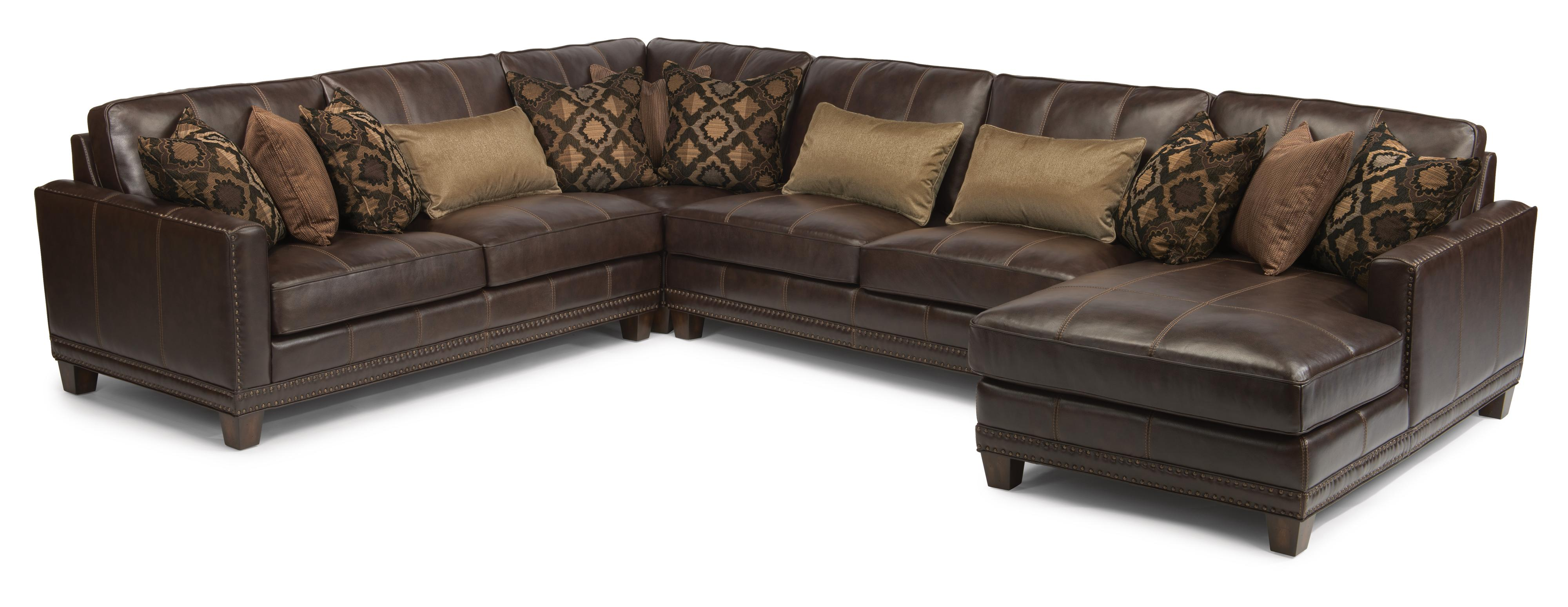 Flexsteel latitudes port royal transitional four piece for Flexsteel sectional sofa with chaise