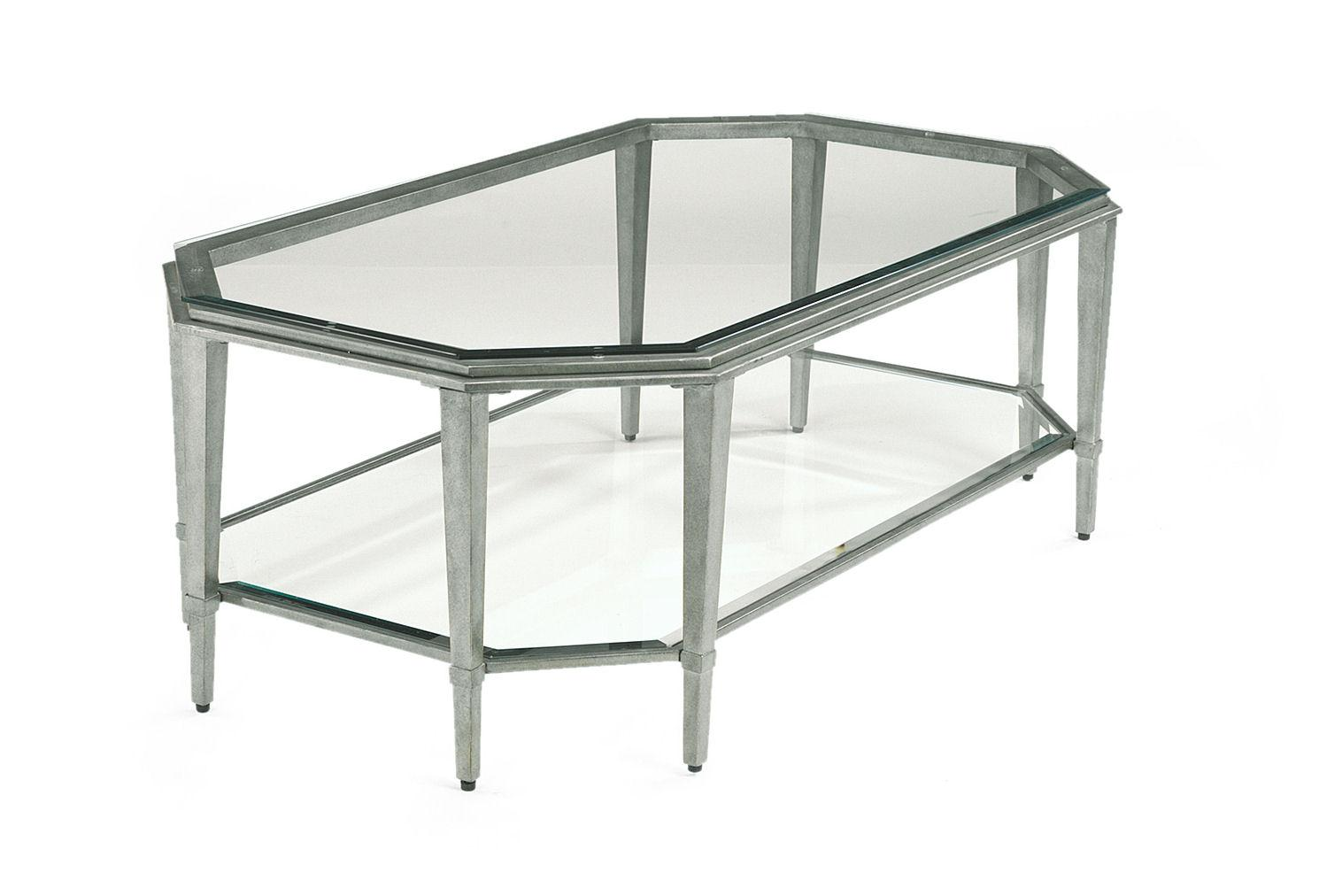 Contemporary rectangular glass cocktail table for Contemporary glass cocktail tables
