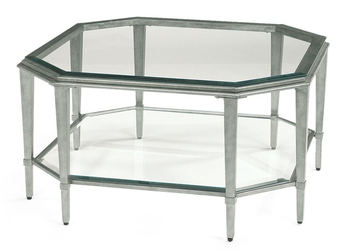 Flexsteel prism 6693 032 contemporary square glass for Square cocktail table