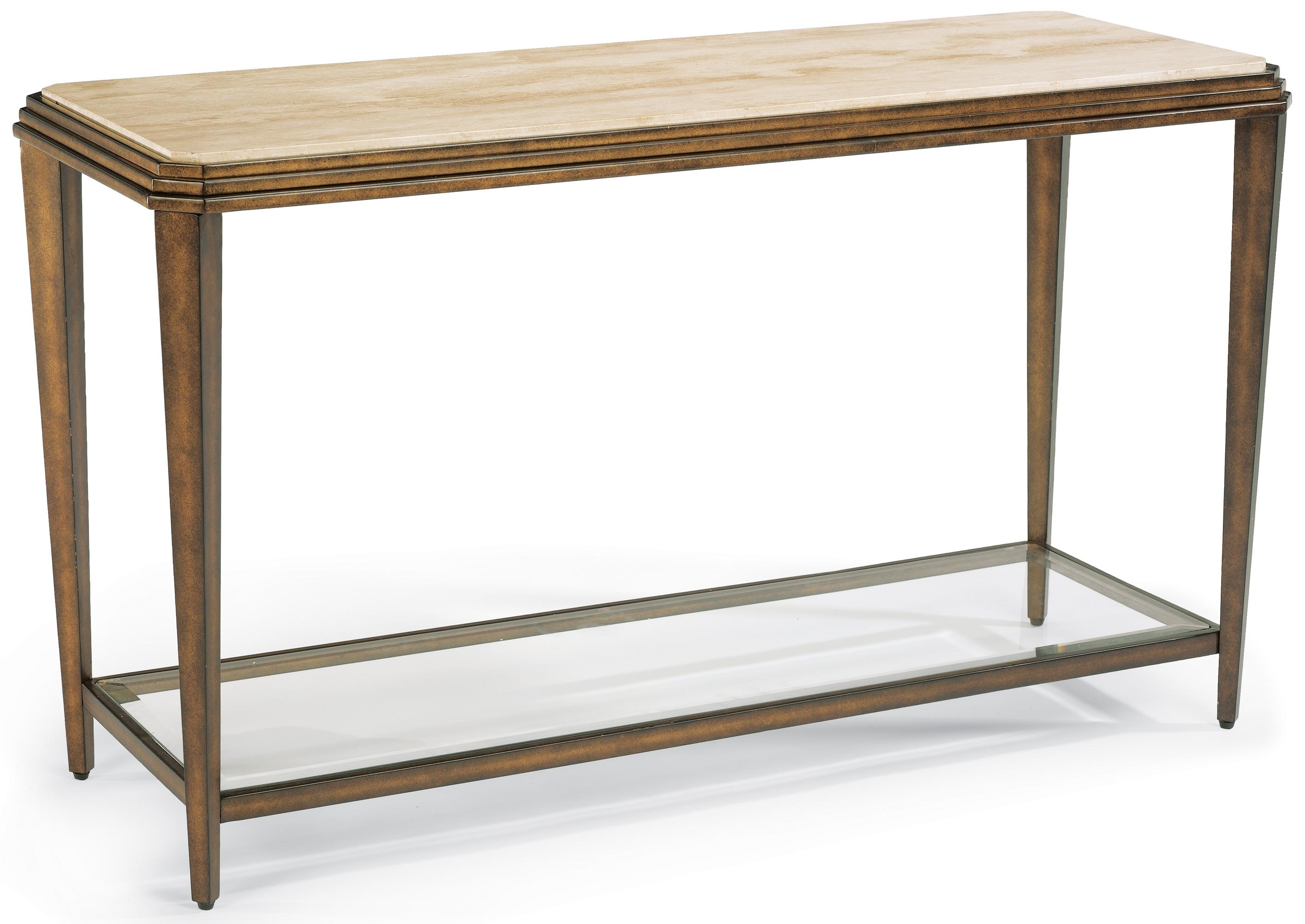 Flexsteel Seville Metal Sofa Table With Marble Top Dunk