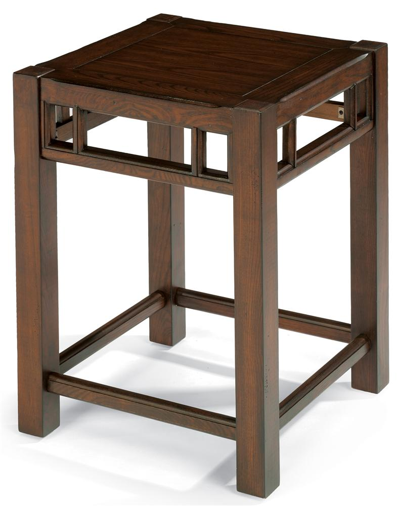 Flexsteel sonoma 6625 07 chair side table with oak top for Bright colored side tables