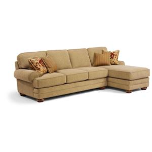 Flexsteel that39s my style customizable 2 piece sectional for Flexsteel sectional sofa with chaise