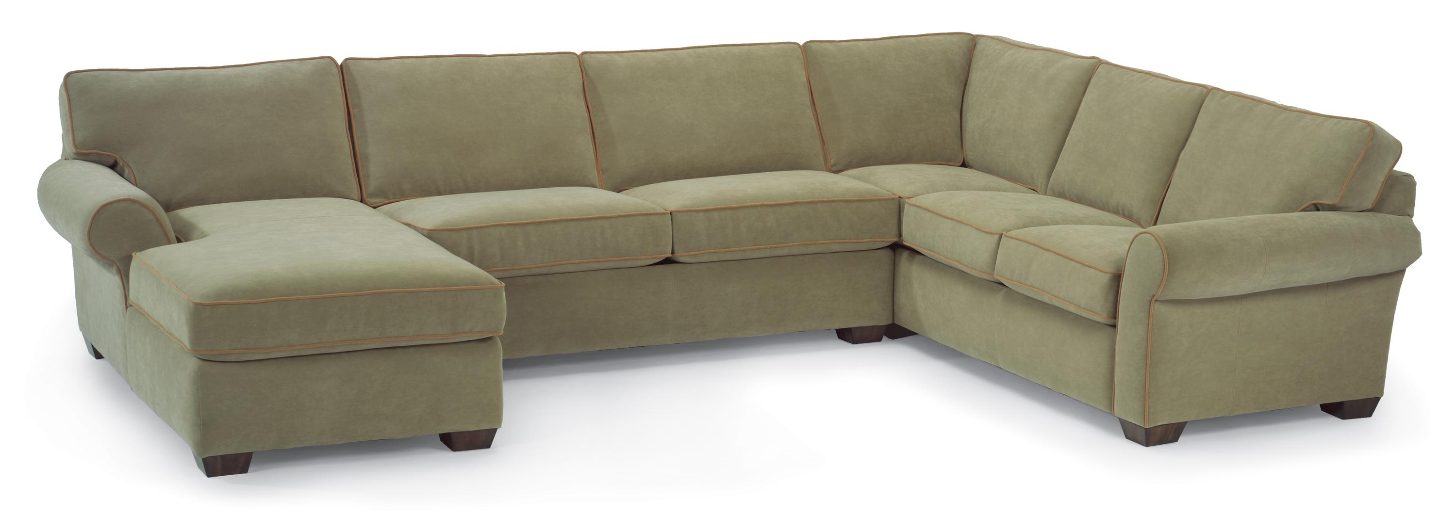 Flexsteel vail stationary sectional sofa with left side for Flexsteel sectional sofa with chaise