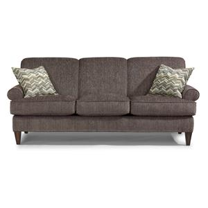 Flexsteel Venture Transitional Loveseat With Rolled Arms
