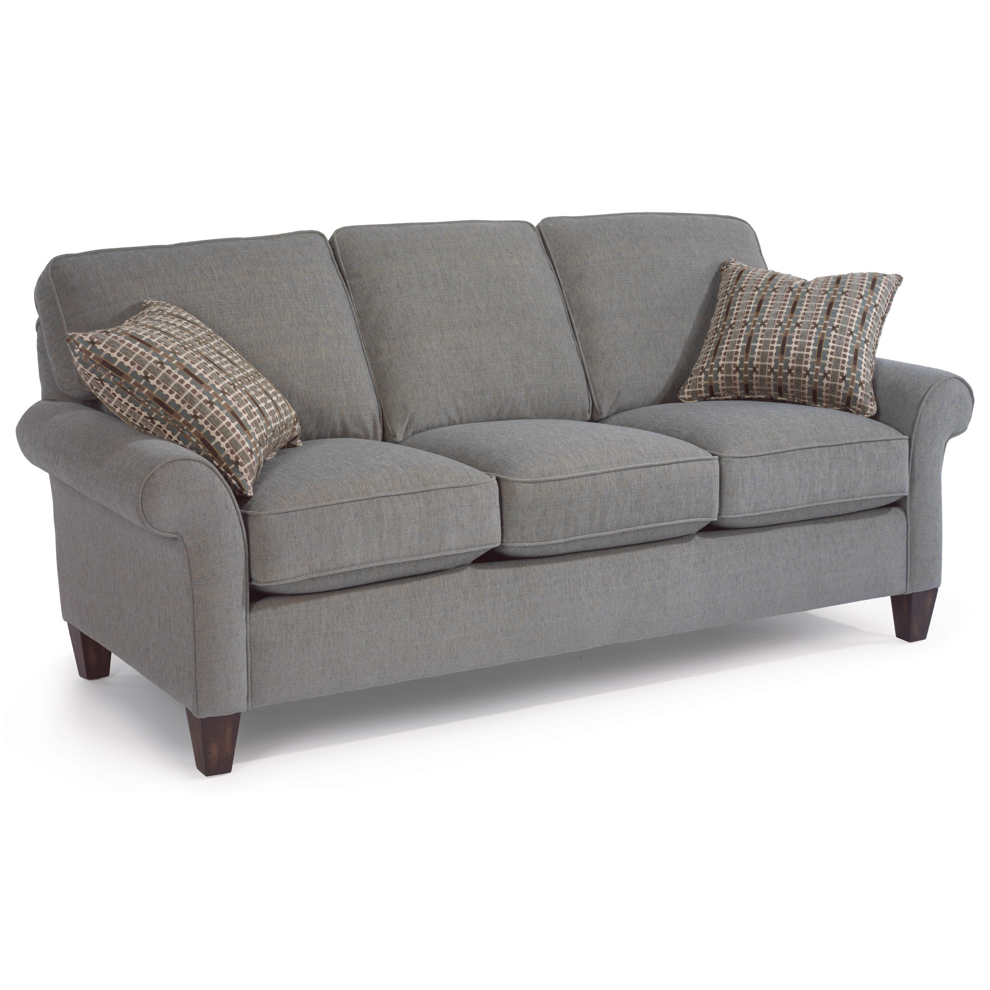 Flexsteel westside 5979 30 casual style sofa dunk for Casual couch