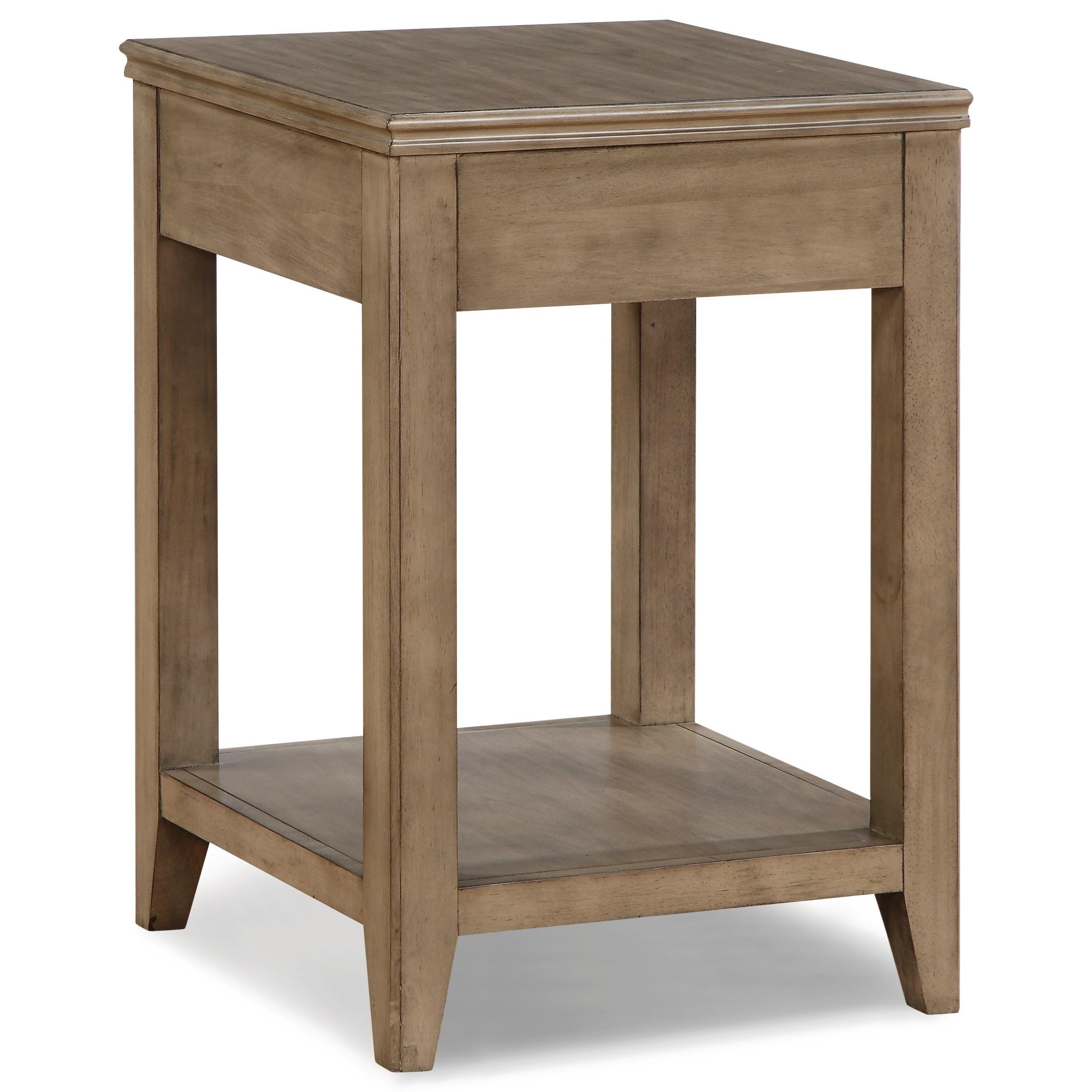 flexsteel wynwood collection camden contemporary corner table olinde 39 s furniture end tables. Black Bedroom Furniture Sets. Home Design Ideas