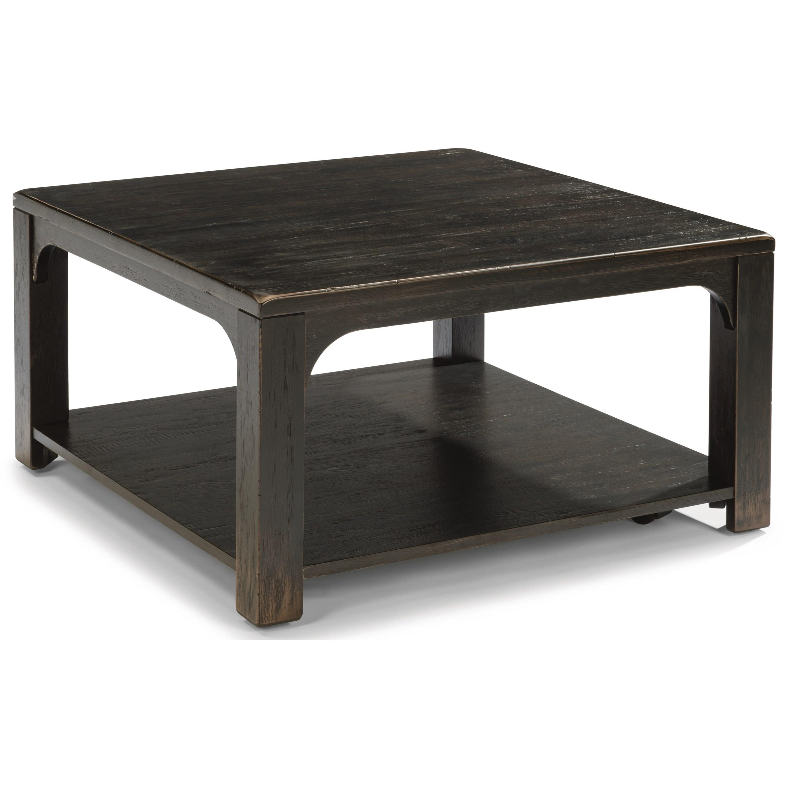 Flexsteel wynwood collection homestead rustic square for Square cocktail table
