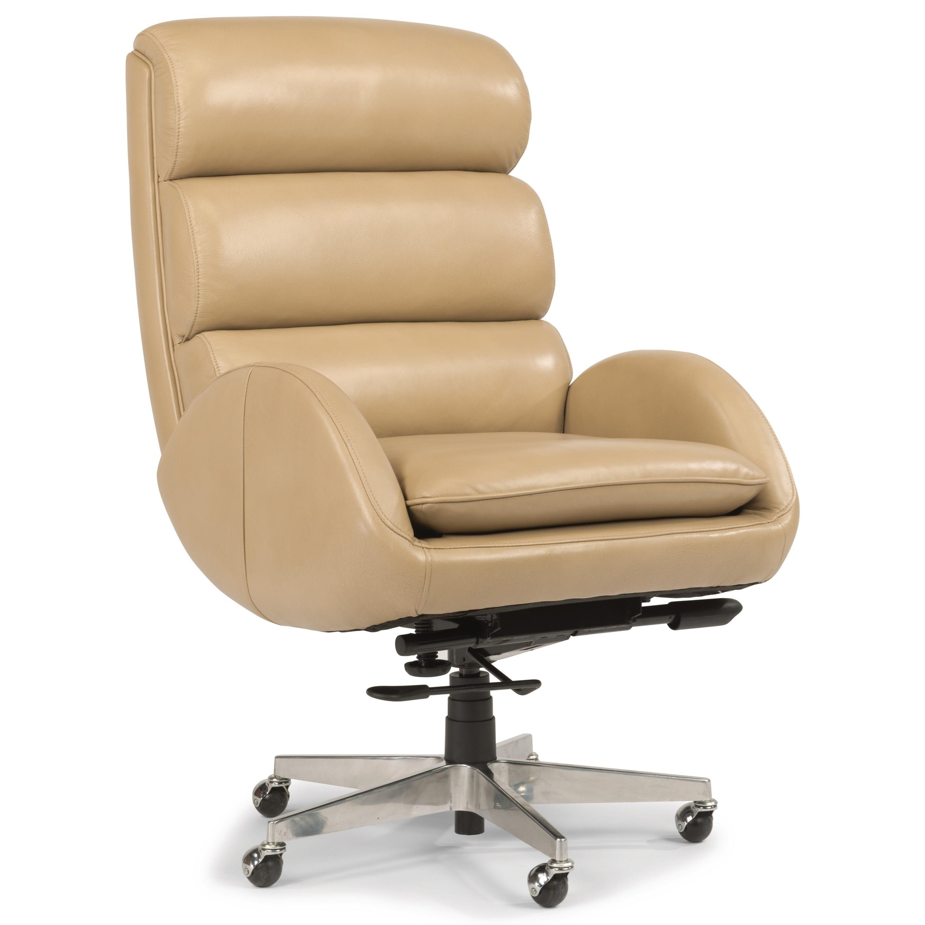Flexsteel Wynwood Collection Office Chairs Contemporary Office Chair With Cur