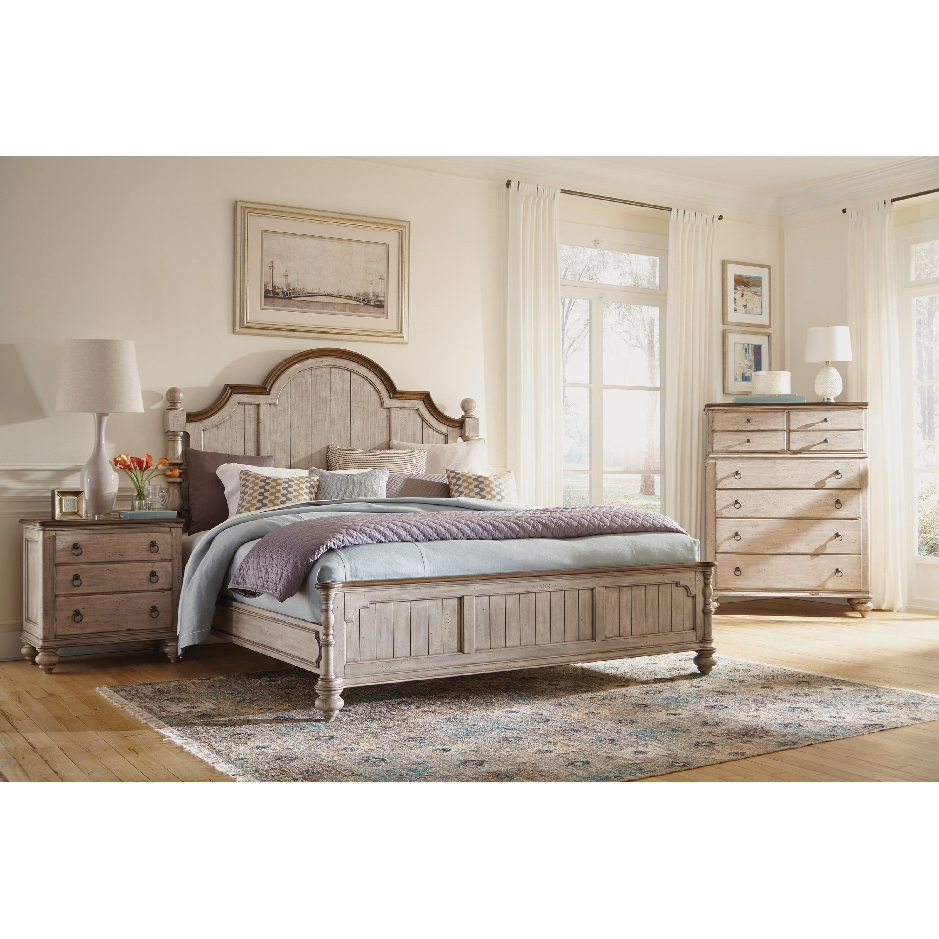 Flexsteel wynwood collection plymouth queen bedroom group for Bedroom groups